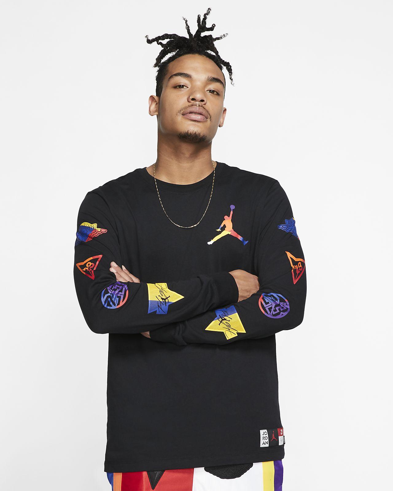 Jordan DNA Langarm-Rundhalsshirt für Herren