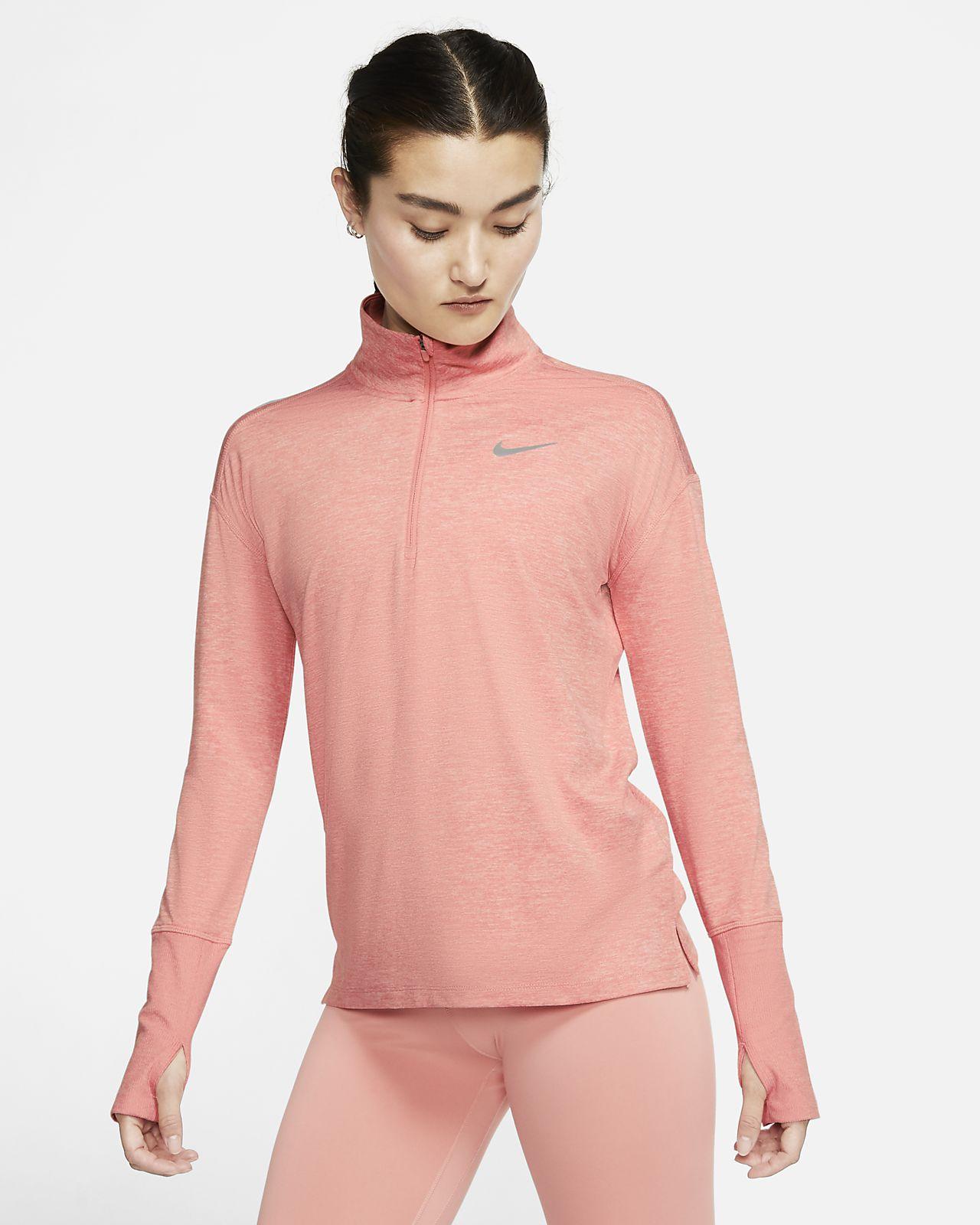 Γυναικεία μπλούζα για τρέξιμο με φερμουάρ στο μισό μήκος Nike