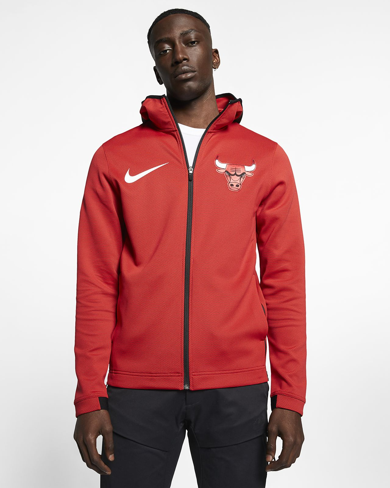 Sweat à capuche NBA Chicago Bulls Nike Therma Flex Showtime pour Homme