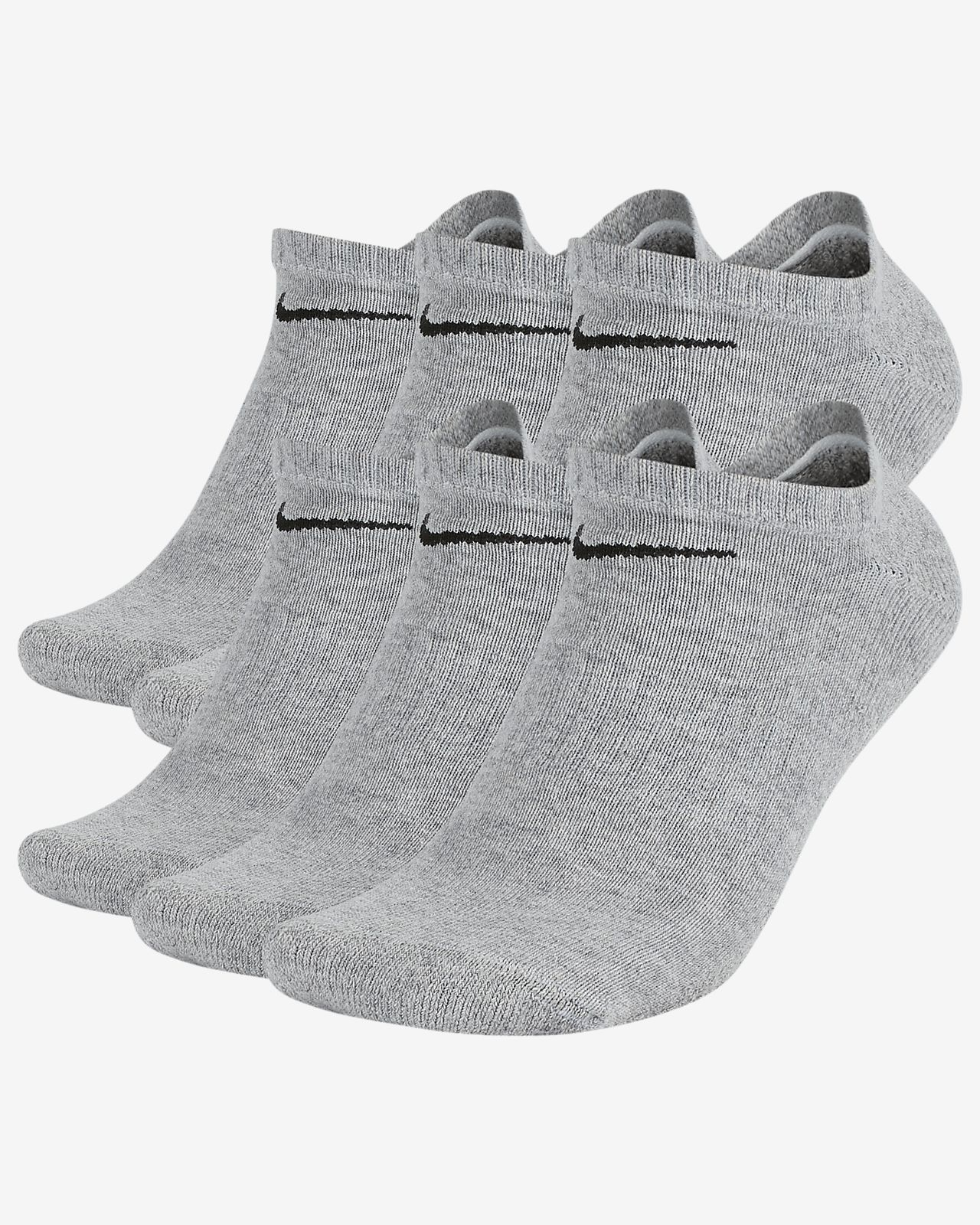 Nike Everyday Cushioned Training No-Show Socks (6 Pairs)