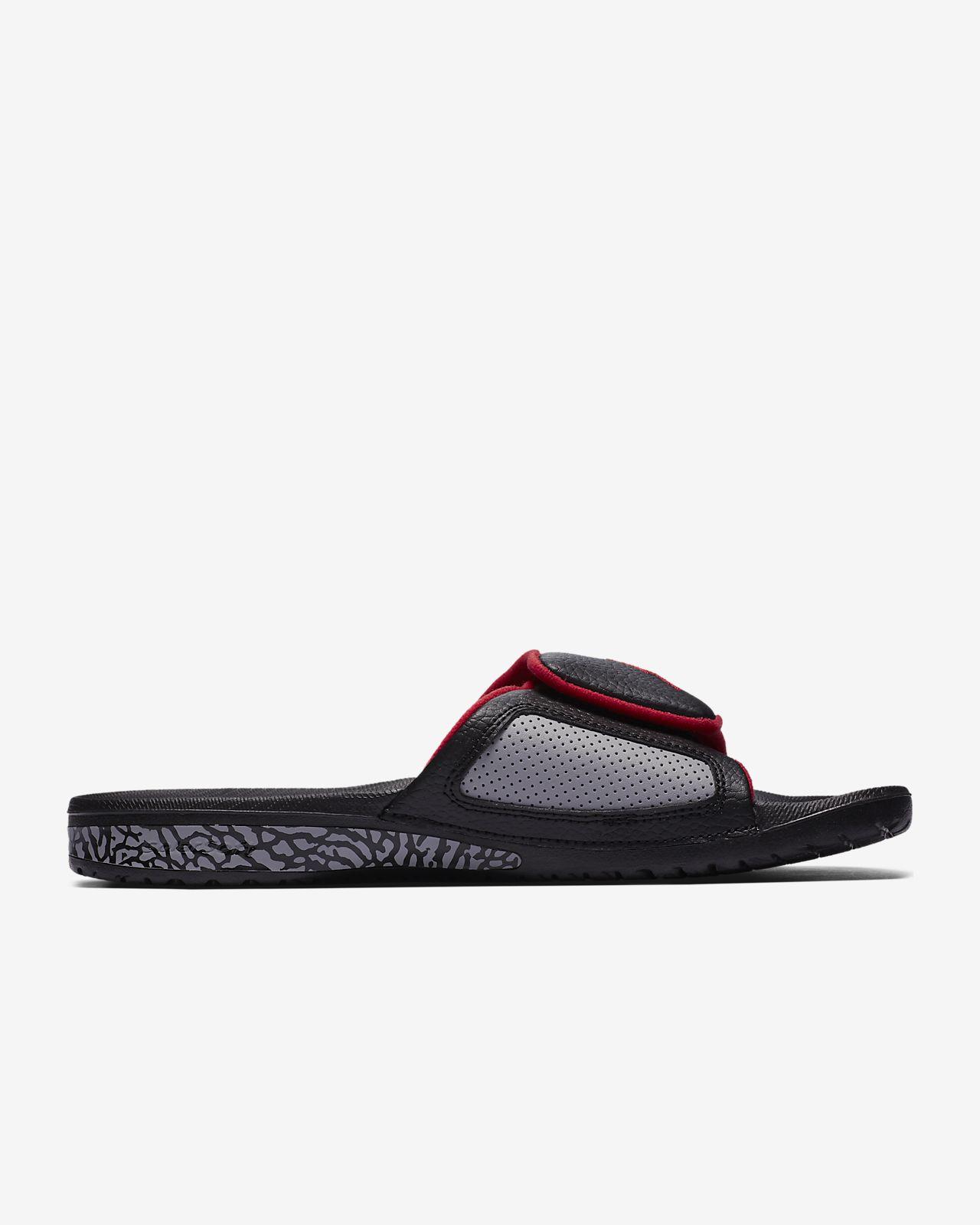Jordan SUPER.FLY TEAM SLIDE - Pool sliders - black/university red UuPbJLF