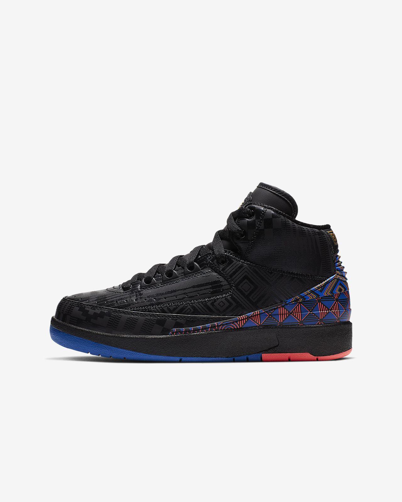 Air Jordan 2 Retro BHM Big Kids  Shoe. Nike.com 917135065