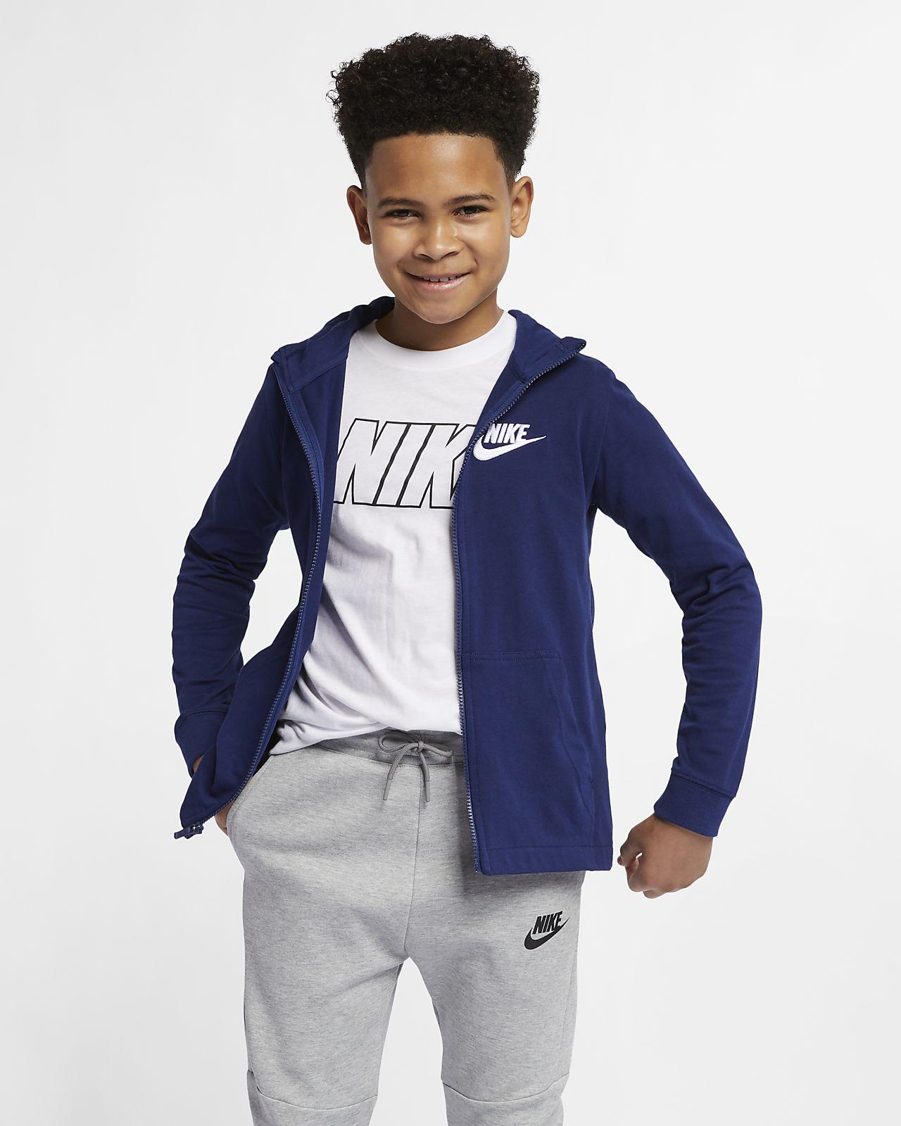 76b25bce Nike Sportswear Big Kids' (Boys') Full-Zip Hoodie. Nike.com