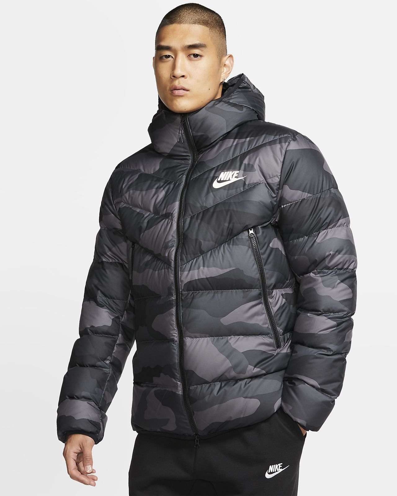 Details about Nike Sportswear Down Fill Windrunner Printed Hooded Jacket Men's Blue BV4763 744