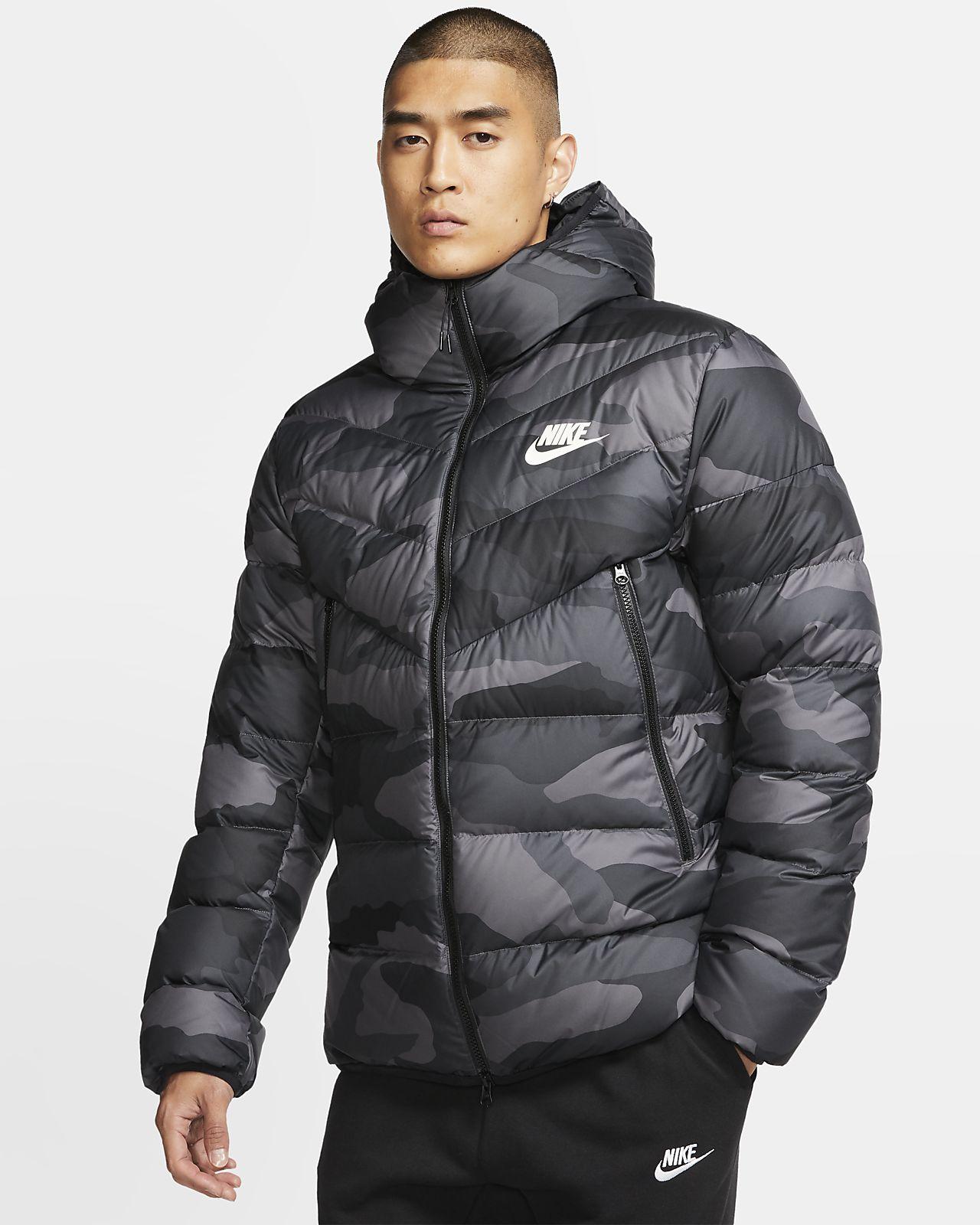 Veste courte imprimée à capuche Nike Sportswear Down Fill Windrunner