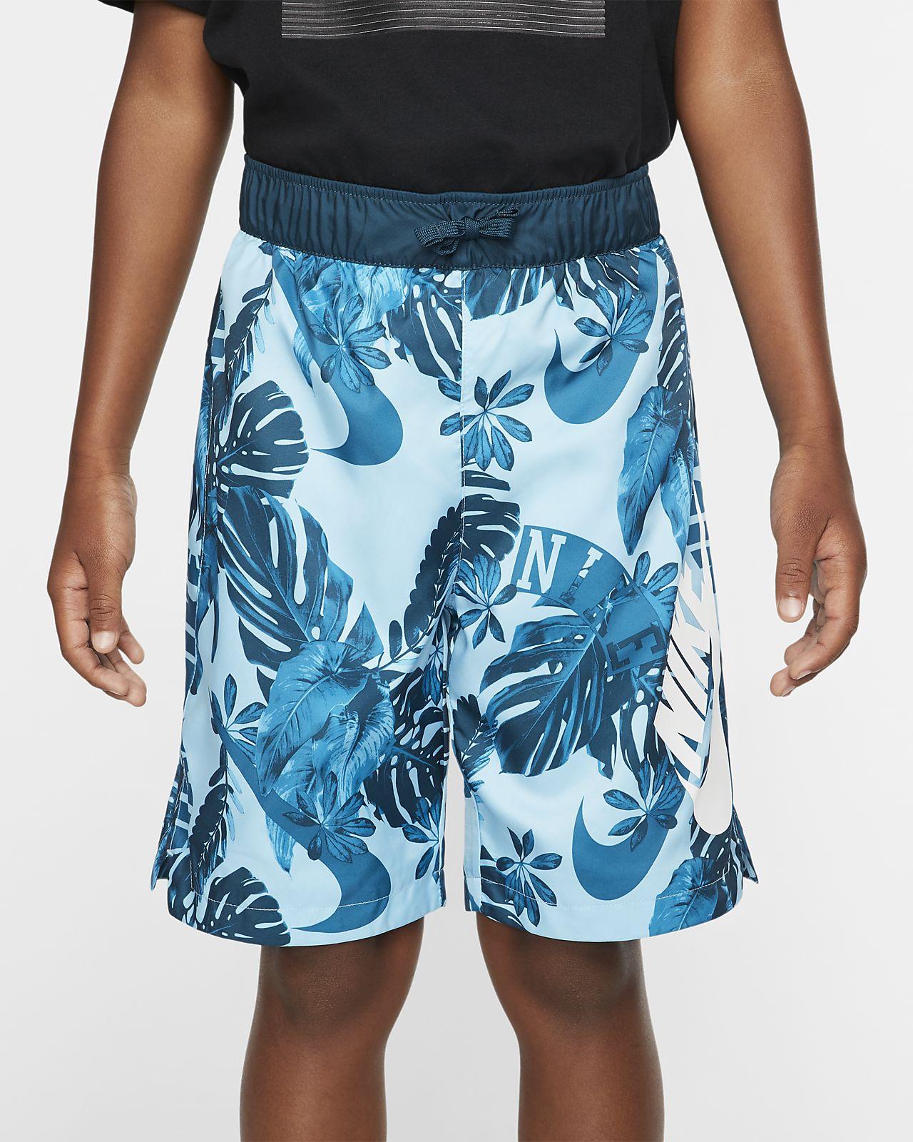 Vævede Nike Sportswear-shorts med print til store børn (drenge)