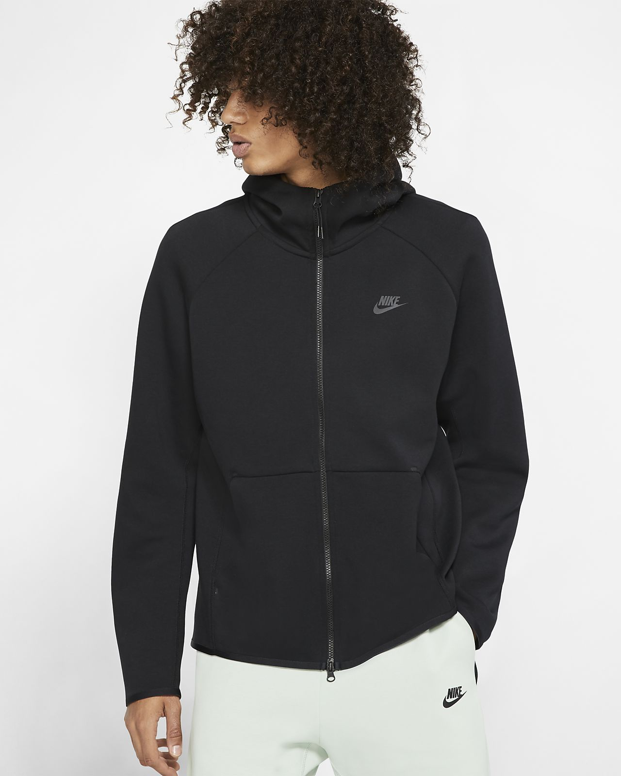 felpa in fleece con cappuccio nike
