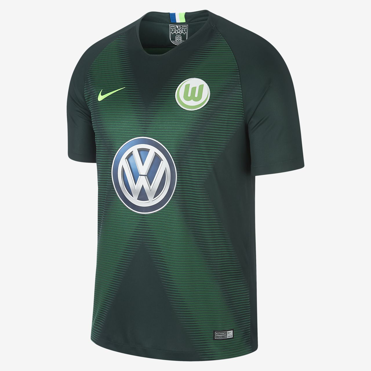 ae4584a7ee77 2018 19 VfL Wolfsburg Stadium Home Men s Football Shirt. Nike.com GB