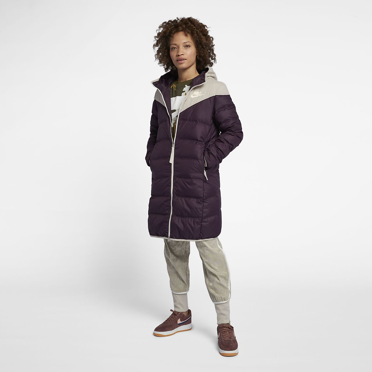 Nike Avec En Réversible Sportswear Duvet Veste Windrunner Garnissage AwXSxt5