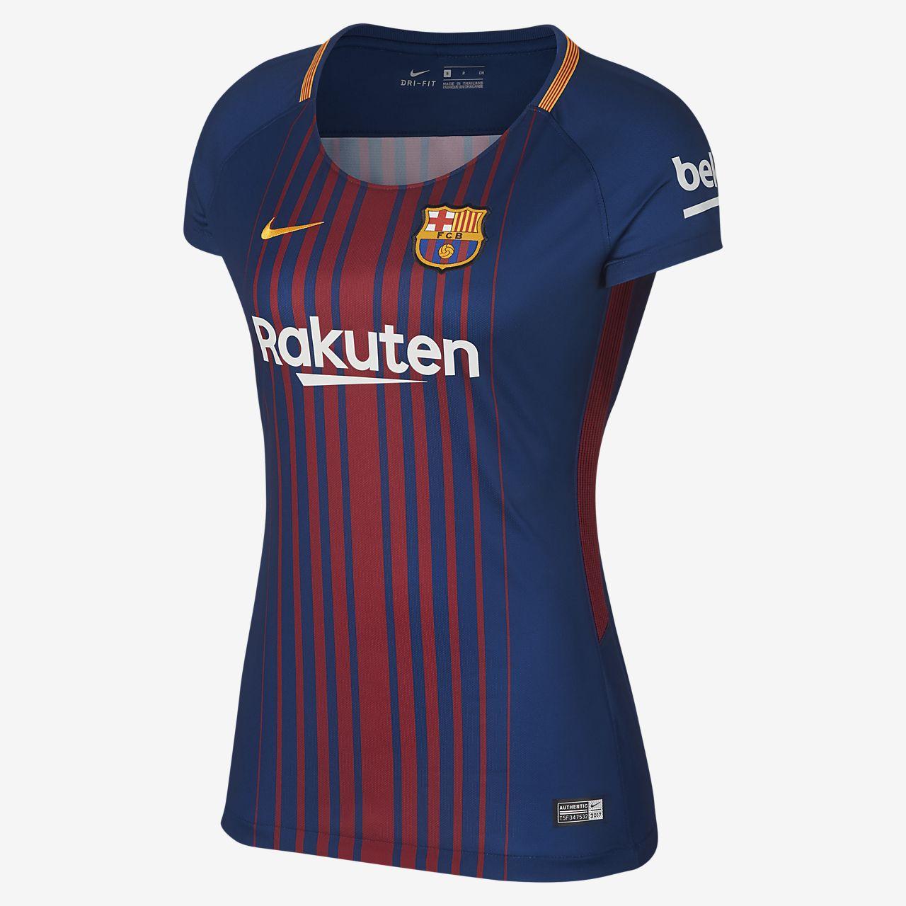 2017 18 FC Barcelona Stadium Home Women s Football Shirt. Nike.com AT bd2f3bbe6