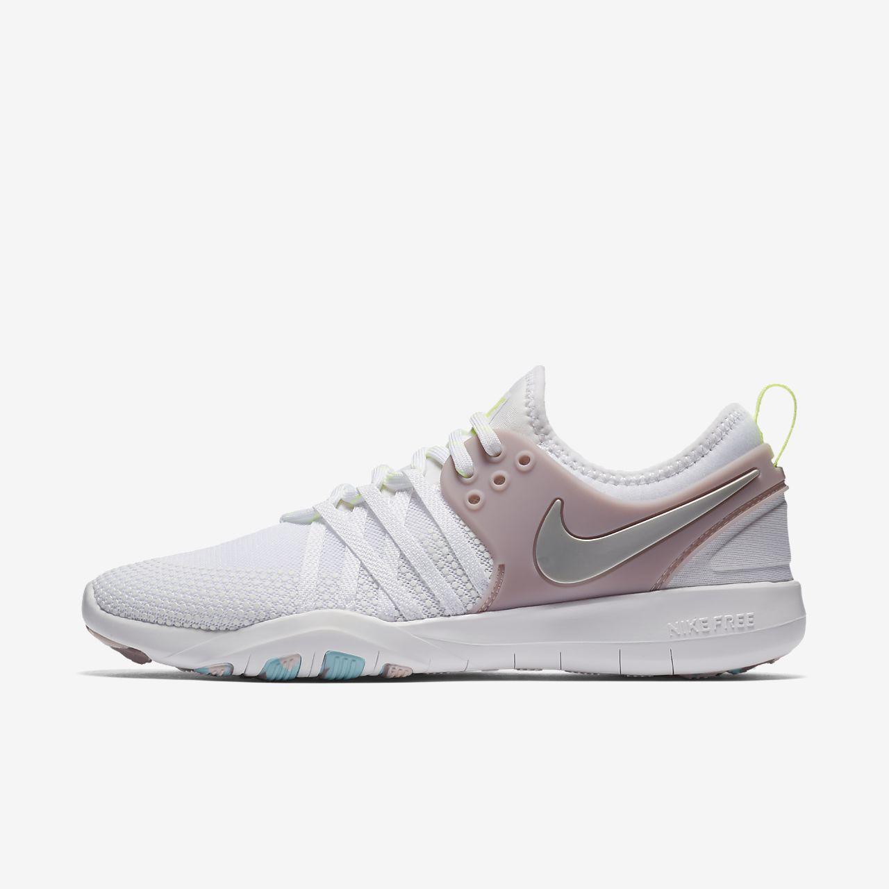 bf7589ad20e5 lyst nike free tr7 chrome blush sneakers in gray  nike free tr 7 womens  training shoe