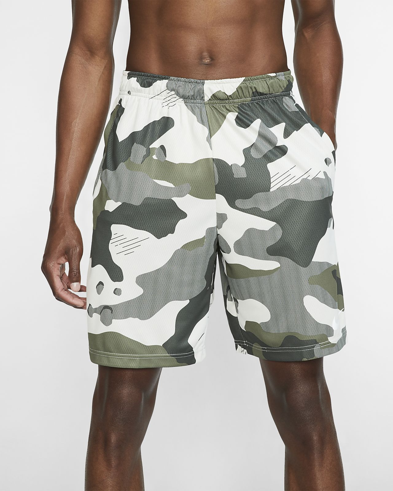 Short de training camouflage Nike Dri-FIT pour Homme