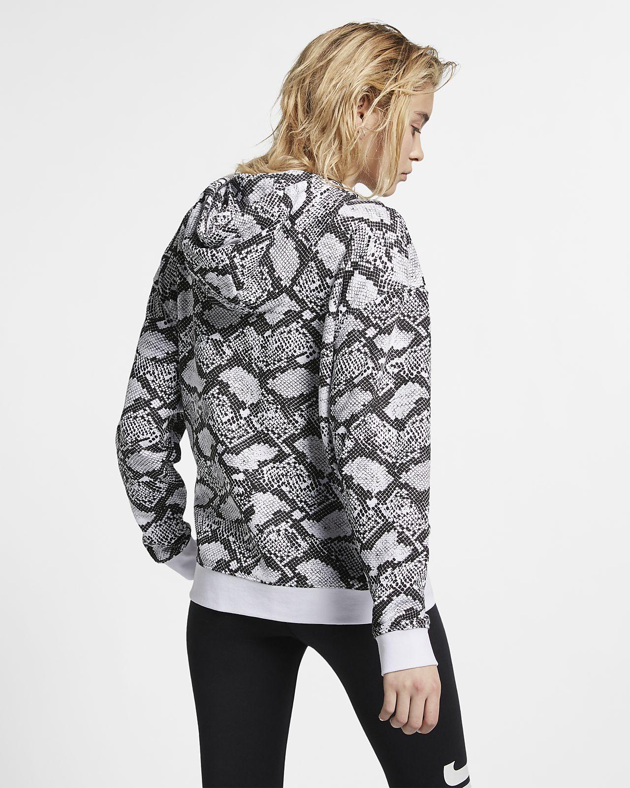 3aedcdc0a051 Γυναικεία μπλούζα με κουκούλα Nike Sportswear με animal print. Nike ...