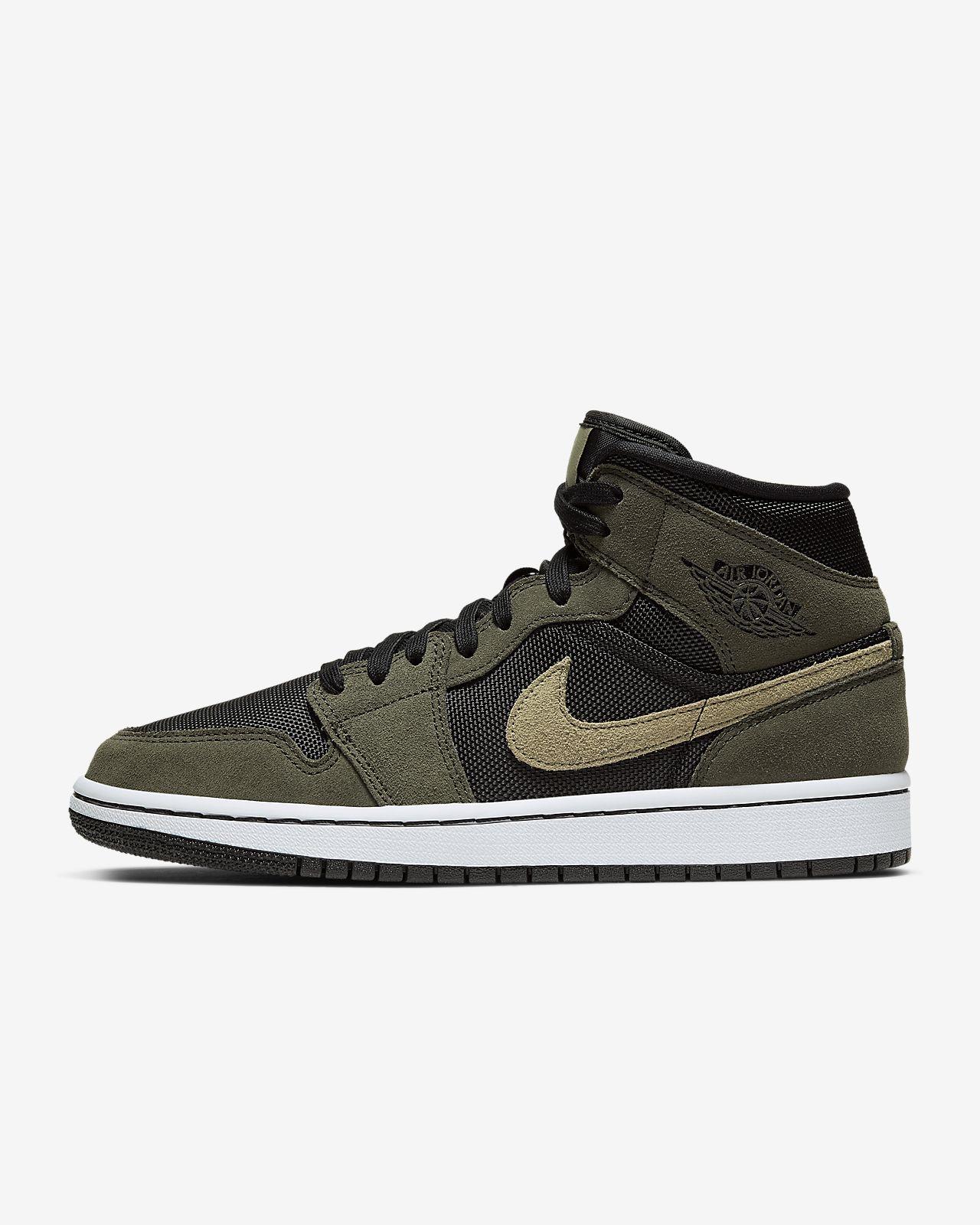 Nike Air Jordan 1 Mid Boys Mens Trainers SNEAKERS Shoes UK 5 EUR 38