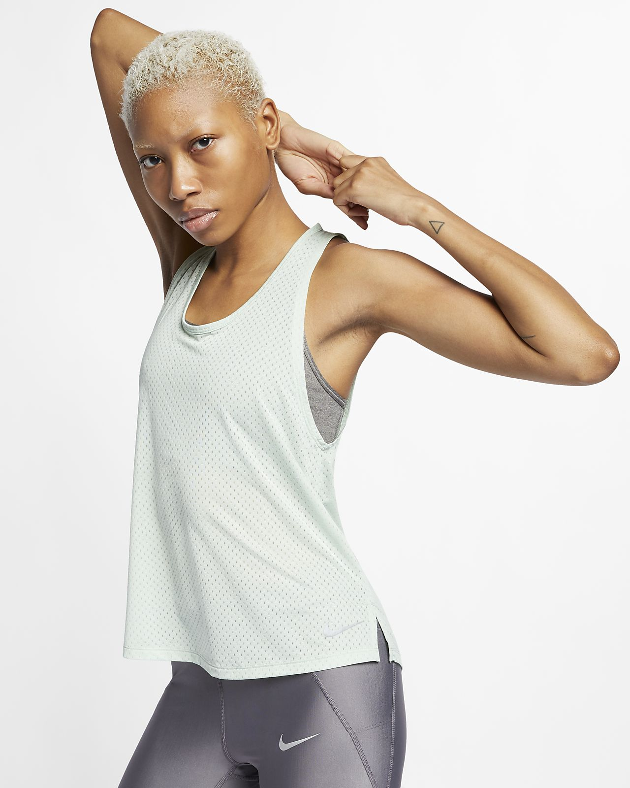 Damska koszulka bez rękawów do biegania Nike Breathe Miler