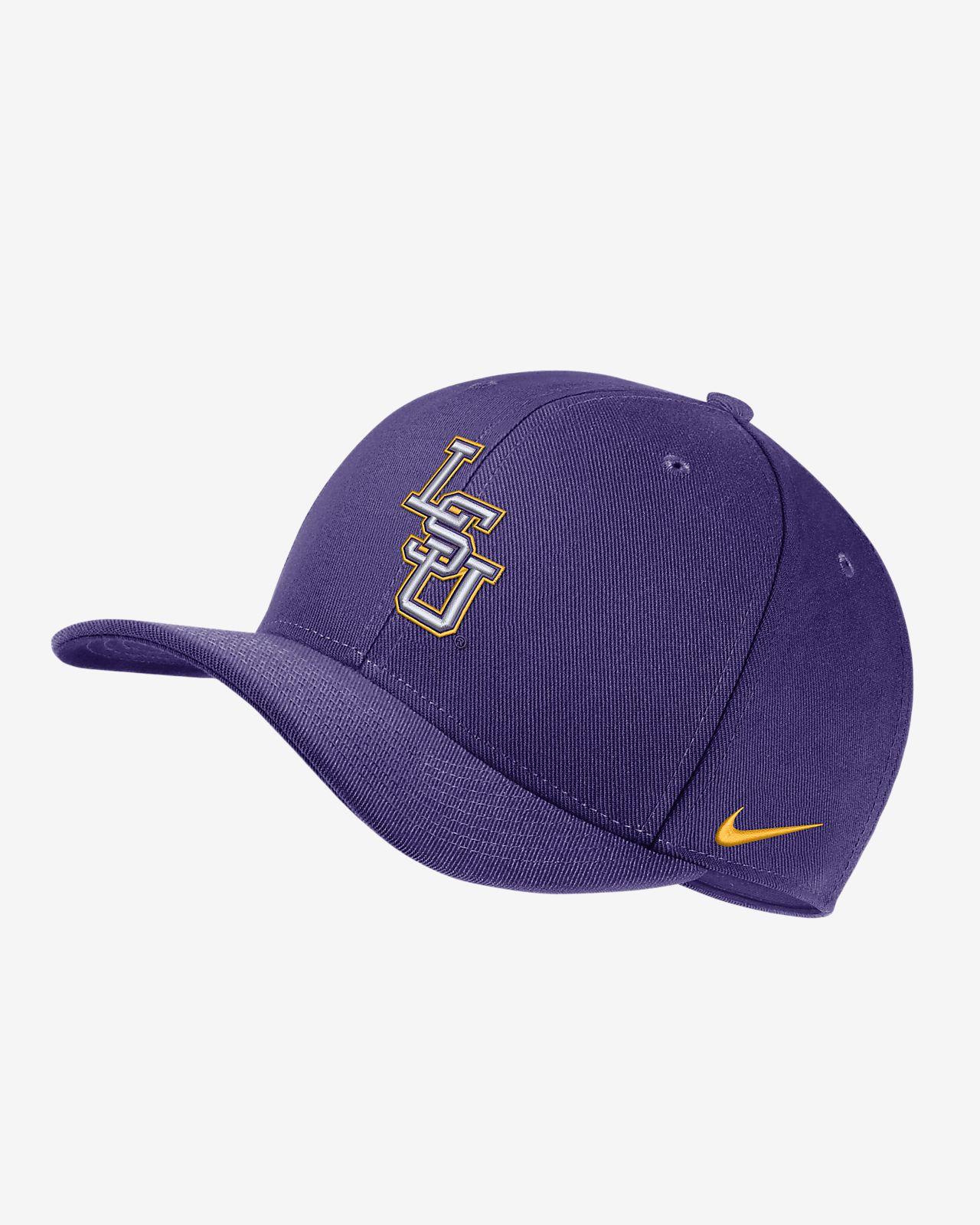 Nike College Dri-FIT Classic99 Swoosh Flex (LSU) Fitted Hat. Nike.com 2d617d3b97d