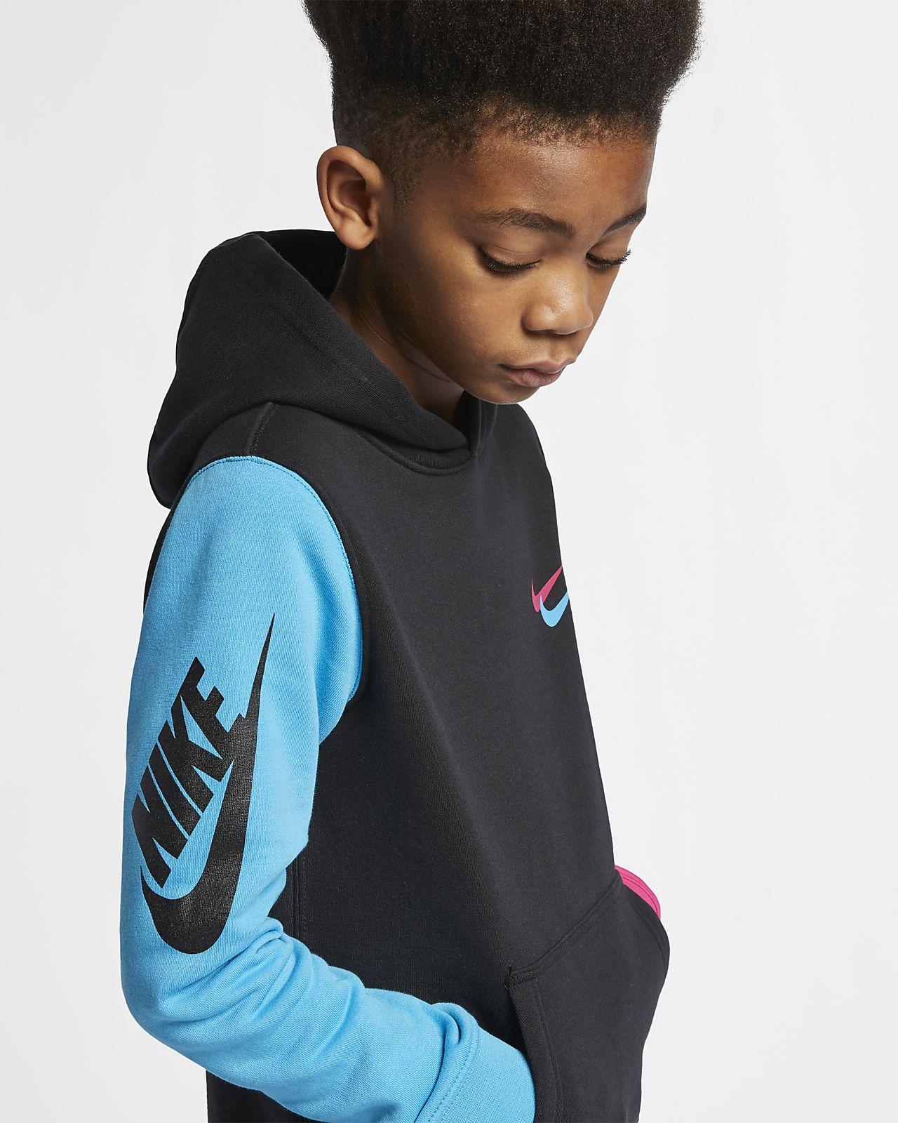 4b5d4ffb50d7 Nike Sportswear Club Fleece Big Kids  (Boys ) Pullover Hoodie. Nike.com