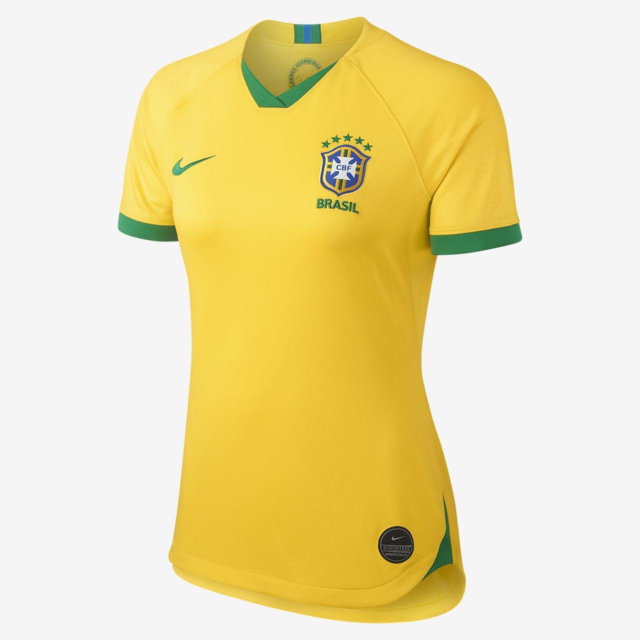 เสื้อแข่งเกมเหย้าผู้หญิง Brasil CBF Stadium 2019