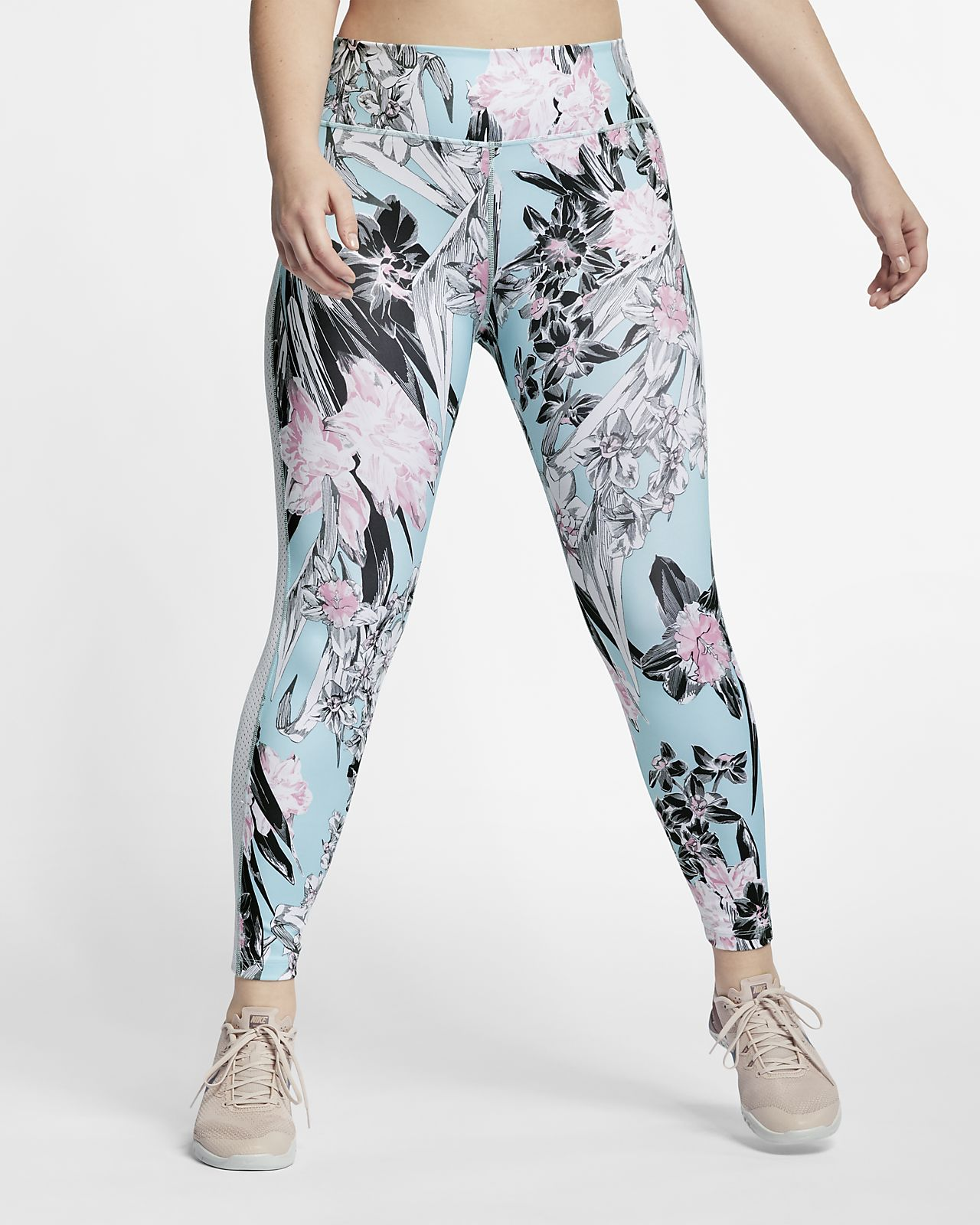 Nike One Women's Floral Training Tights (Plus Size)