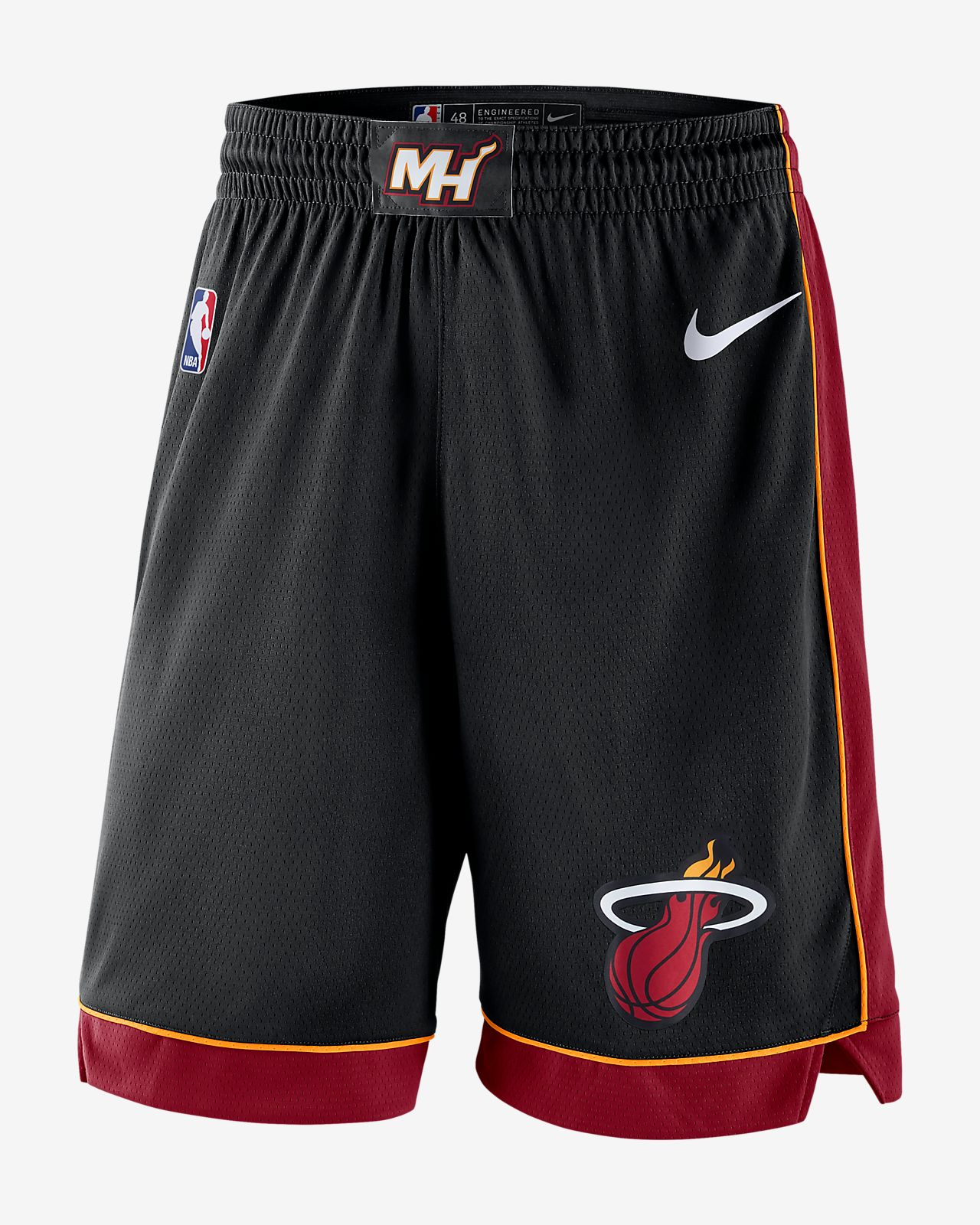 newest bd60d 9ce7e Short Nike NBA Miami Heat Icon Edition Swingman pour Homme
