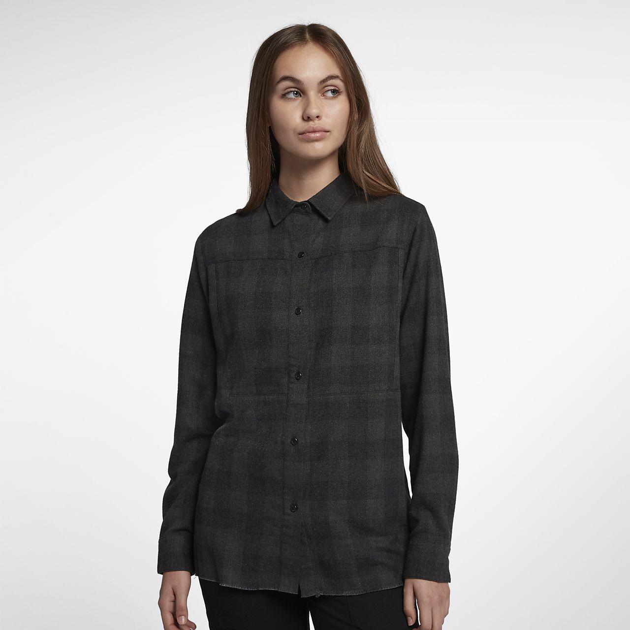 Hurley Wilson-langærmet flannelskjorte til kvinder