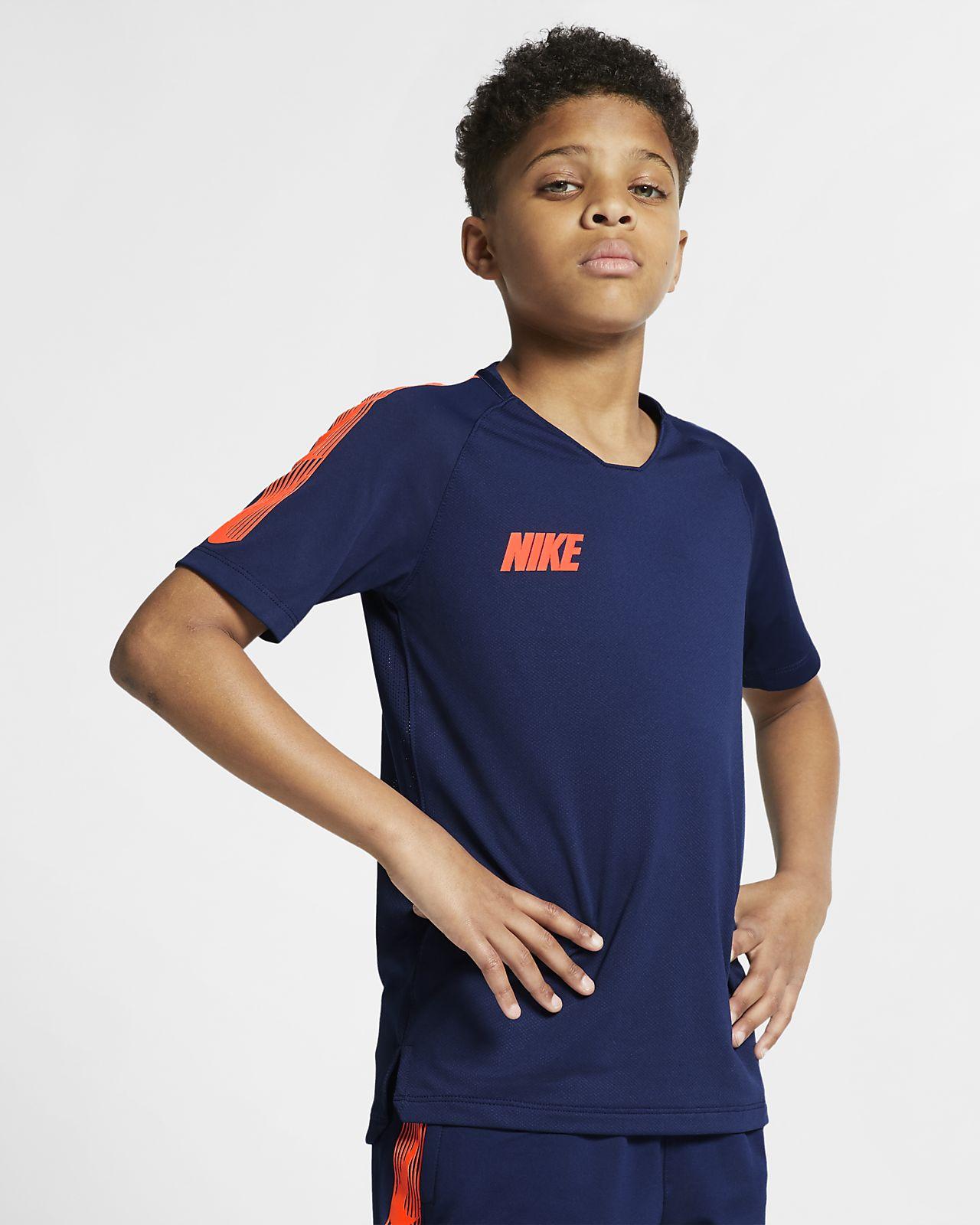 Nike Breathe Squad kortermet fotballoverdel til store barn