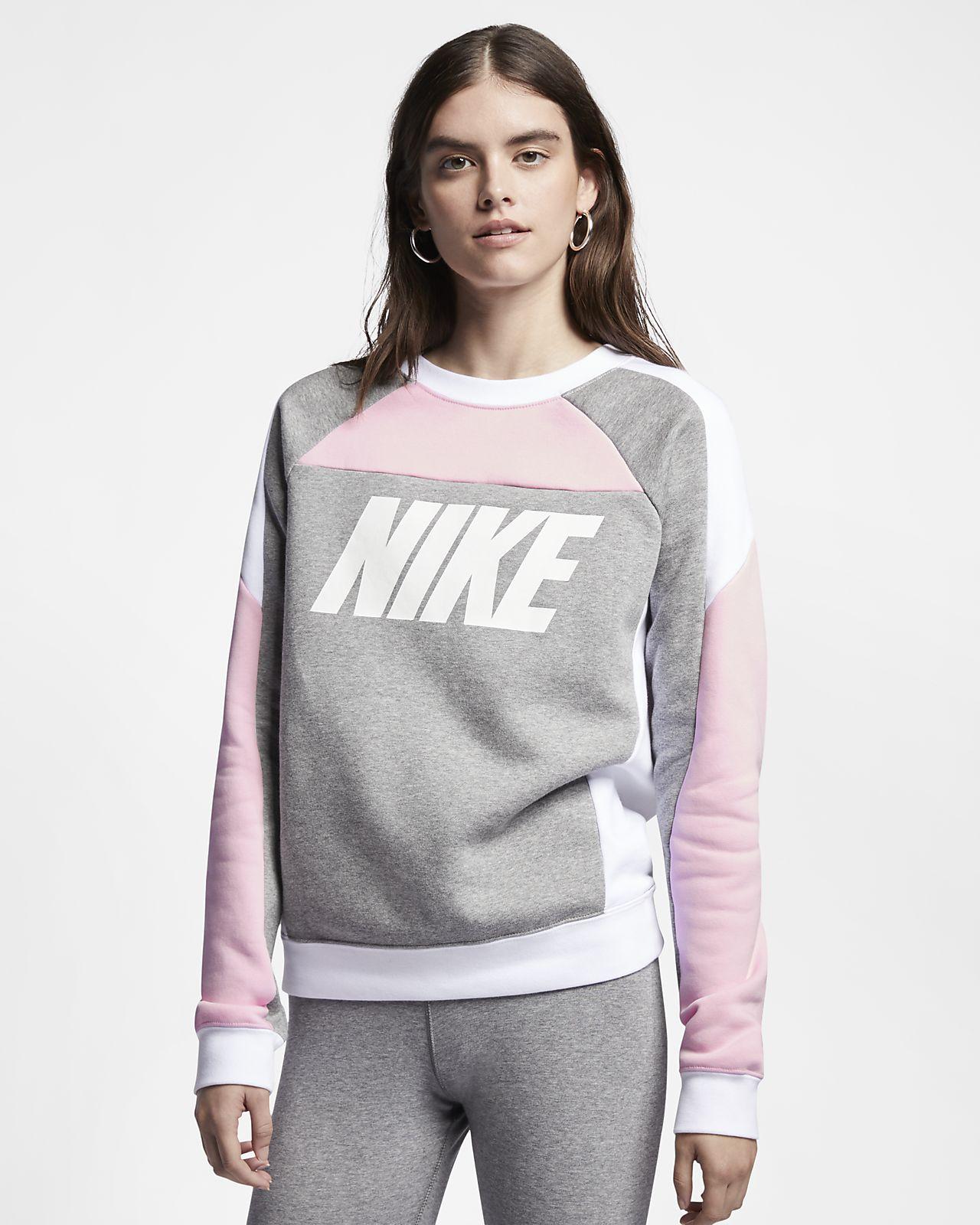 official photos d8dd7 cd519 ... Fleecetröja med rund hals och färgblock Nike Sportswear för kvinnor