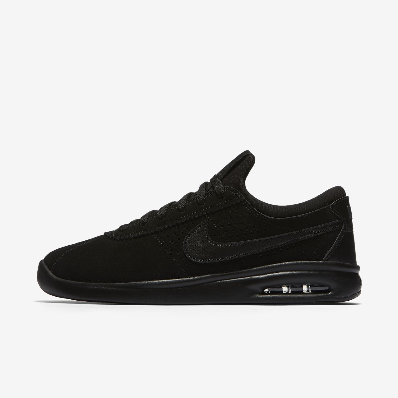 New NIKE SB Air Max Bruin Vapor Skate Shoes Mens triple black all sizes