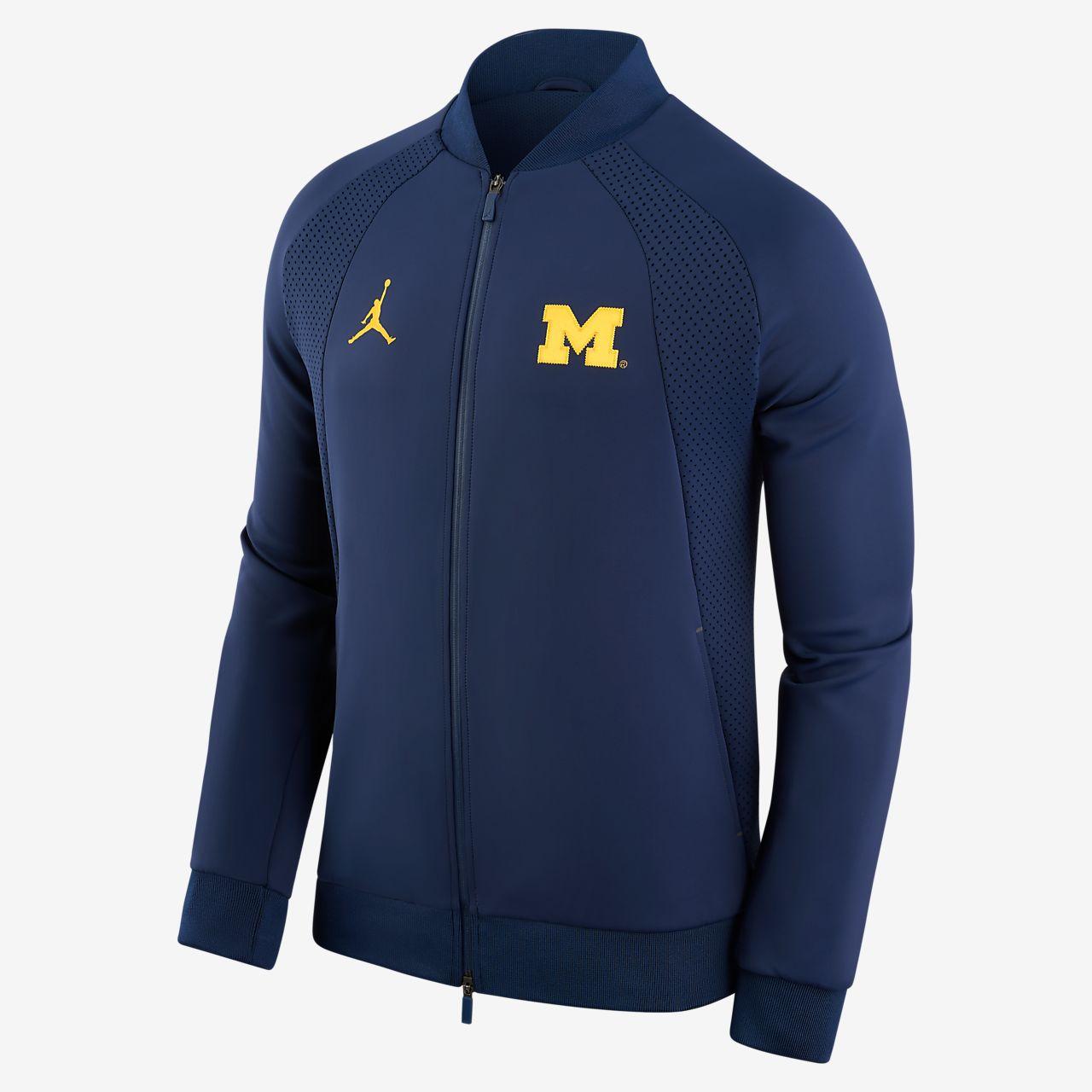 ... Jordan College Air Jordan 1 Wings (Michigan) Men's Jacket