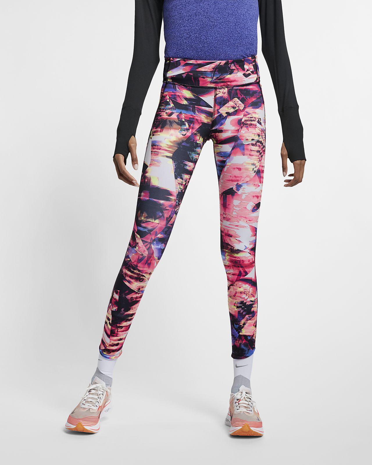Nike Epic Lux mintás, testhezálló női futónadrág