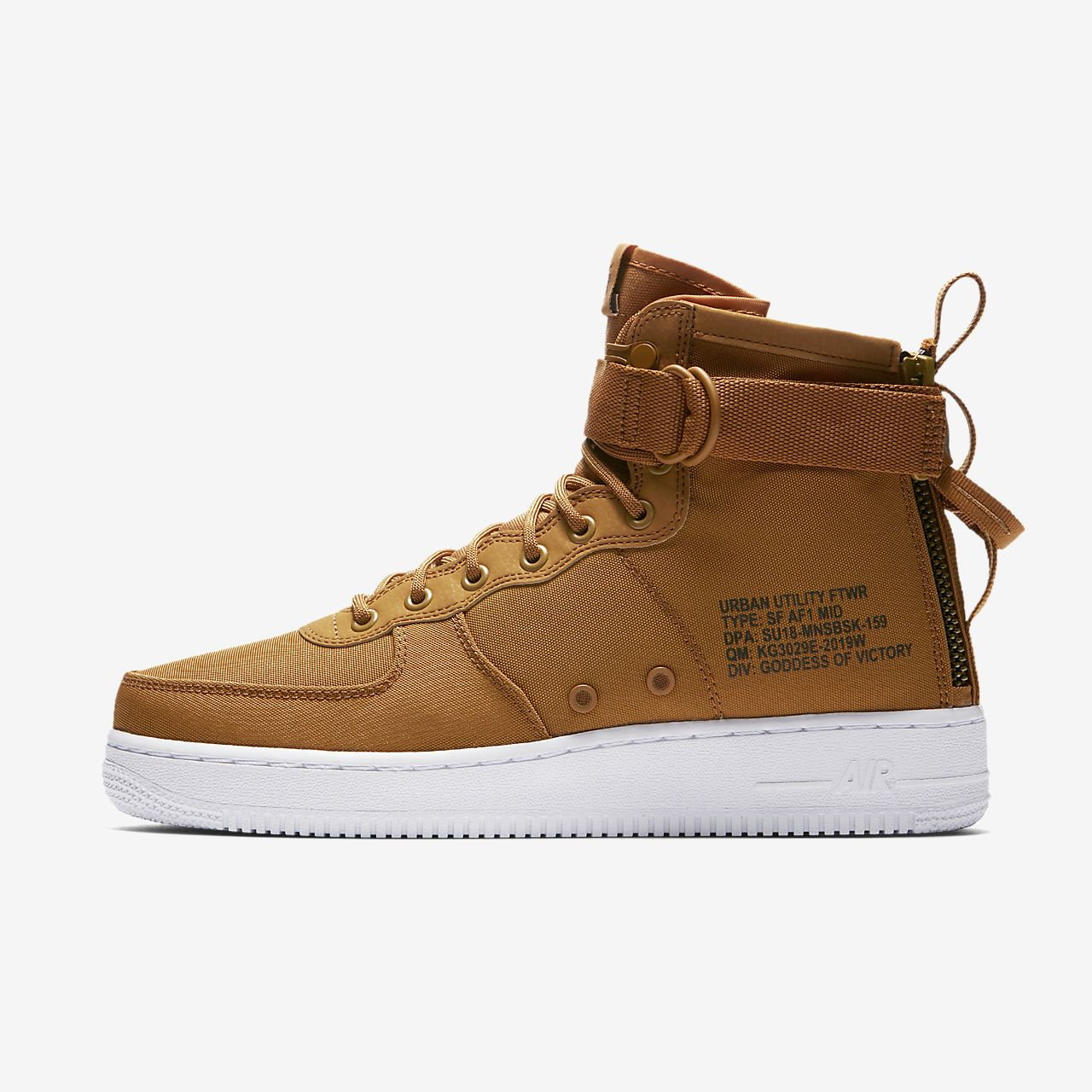 Nike Sportswear SF AF1 MID - High-top trainers - pueblo brown/dark russet/sail