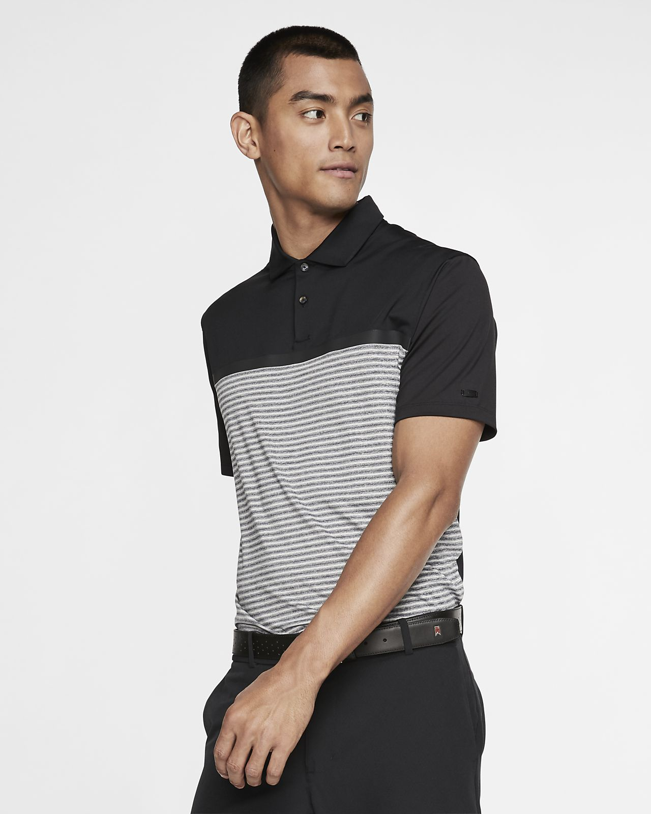 Nike Dri-FIT Tiger Woods Vapor Men's Striped Golf Polo