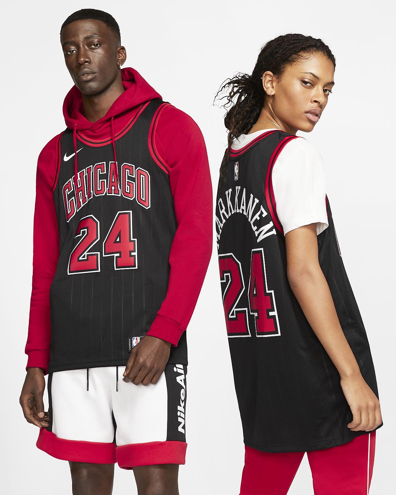 Camisola NBA da Nike Swingman Lauri Markkanen Bulls Statement Edition