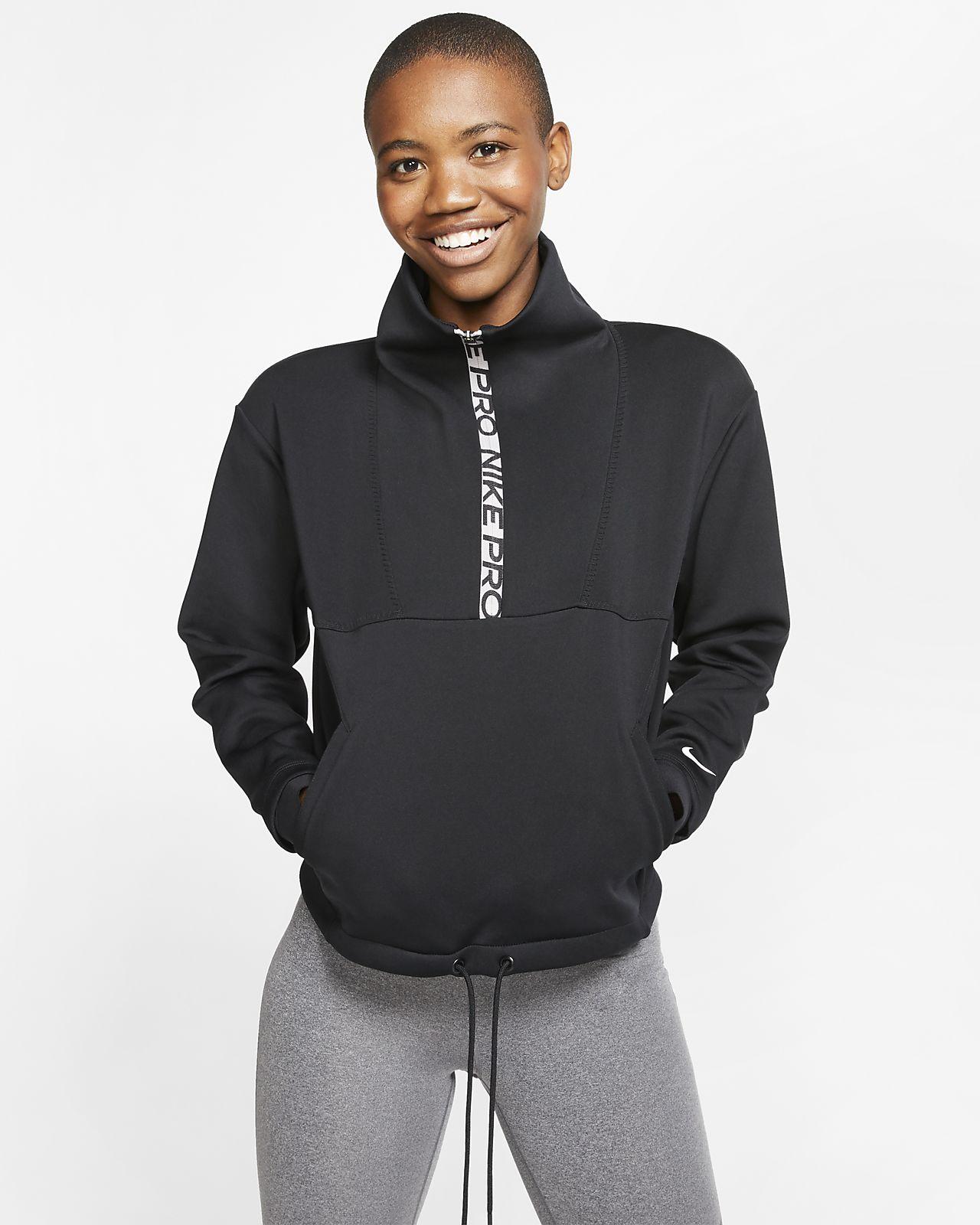 Nike Pro Yünlü Kısaltılmış Kadın Üstü