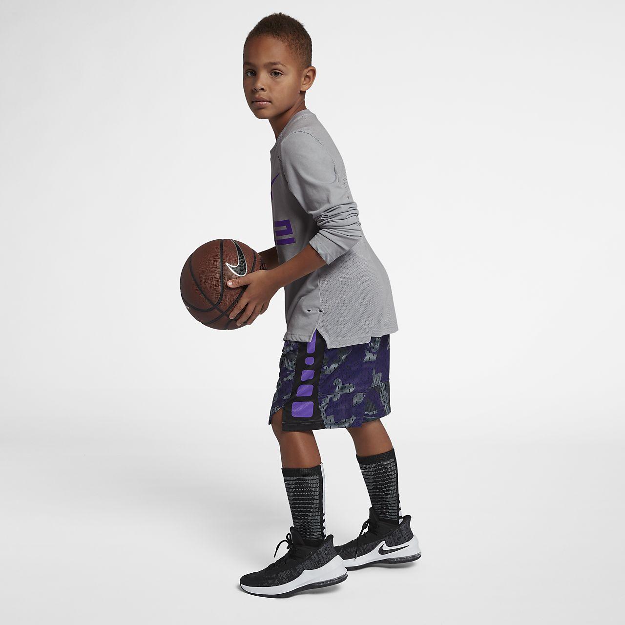 4de8c51375 ... Nike Dri-FIT Elite Big Kids' (Boys') Long Sleeve Basketball Top