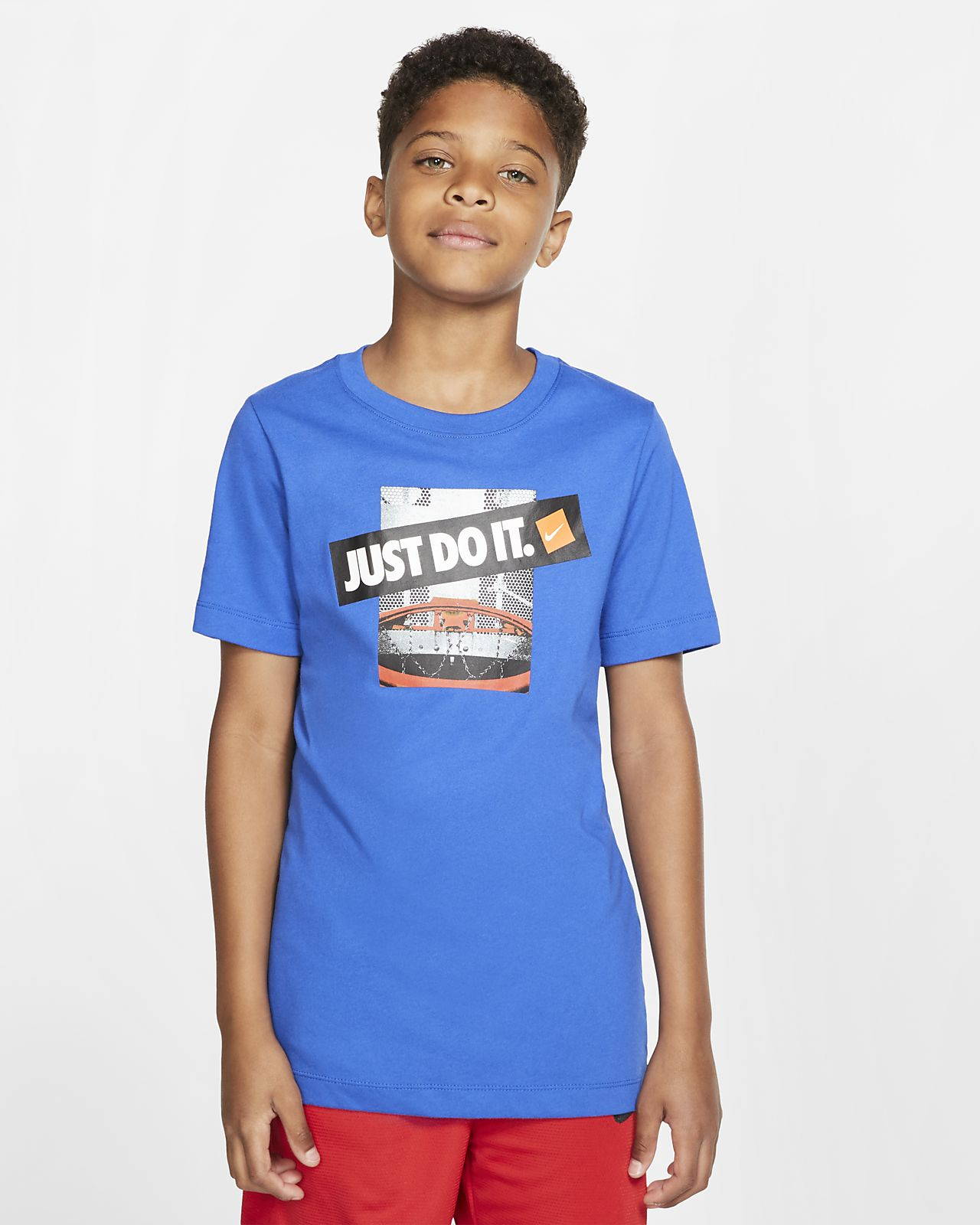 Nike Dri-FIT-basketball-T-shirt til store børn