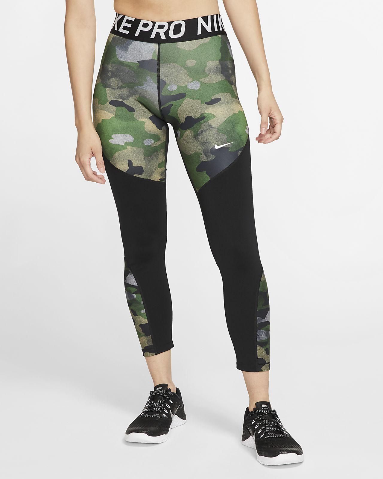 Mallas con estampado de camuflaje de 7/8 para mujer Nike Pro Icon Clash