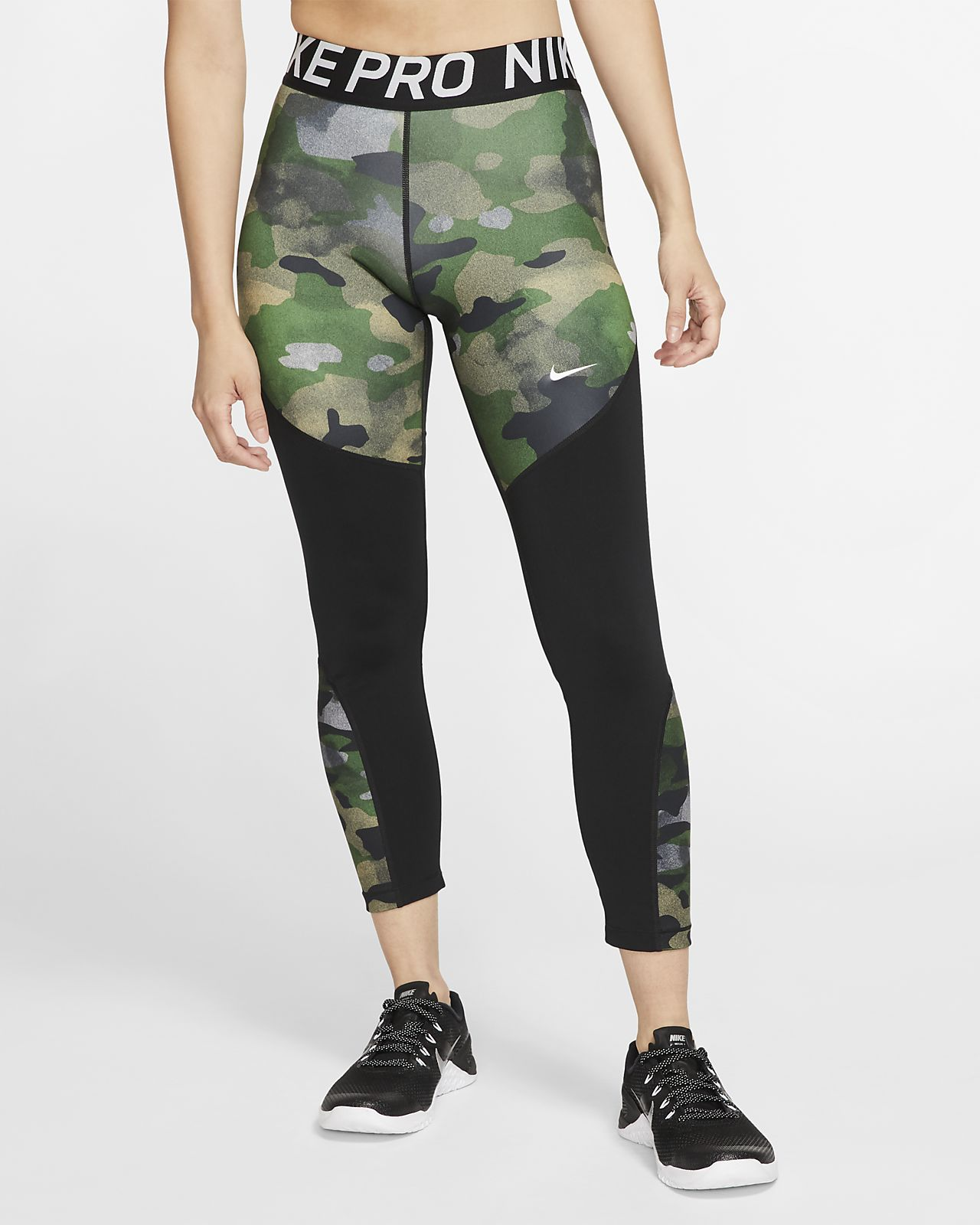 Nike Pro Icon Clash 7/8-Camo-Tights für Damen