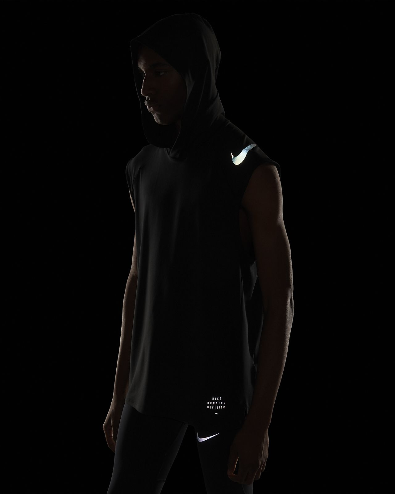 detailed pictures wholesale info for Nike Run Division Element Men's Sleeveless Running Hoodie