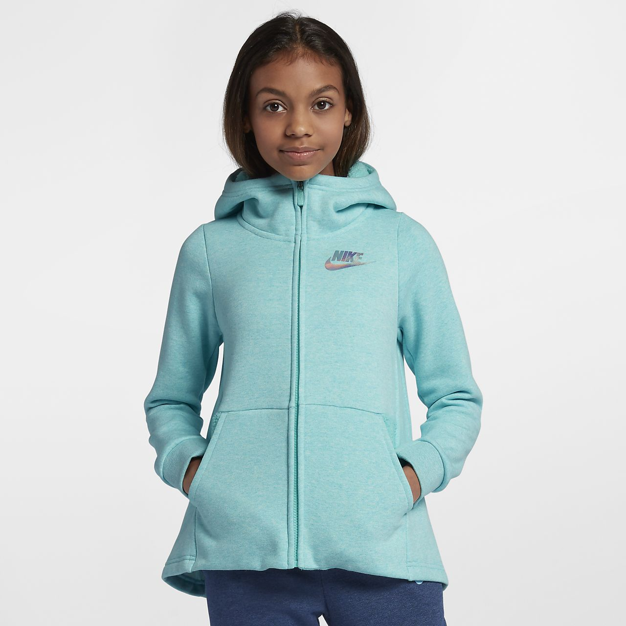 013fb1ab6bde97 Nike Sportswear Big Kids  (Girls ) Full-Zip Hoodie. Nike.com