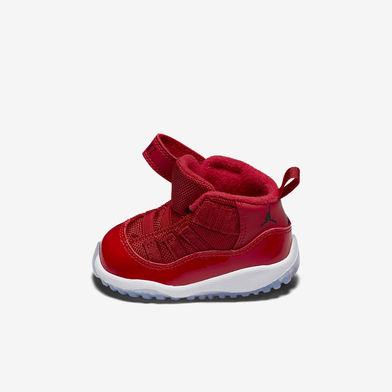 ... Air Jordan XI Retro Three-Quarter Toddler Shoe