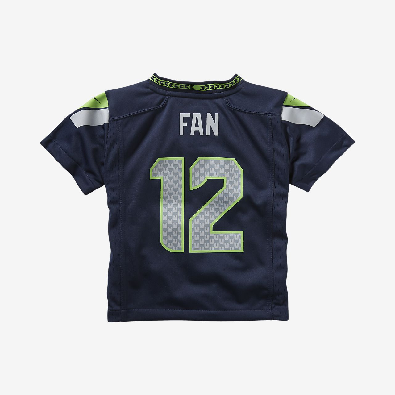 sports shoes 8f967 fd3b5 NFL Seattle Seahawks (Fan #12) Toddler Kids' Football Home Game Jersey