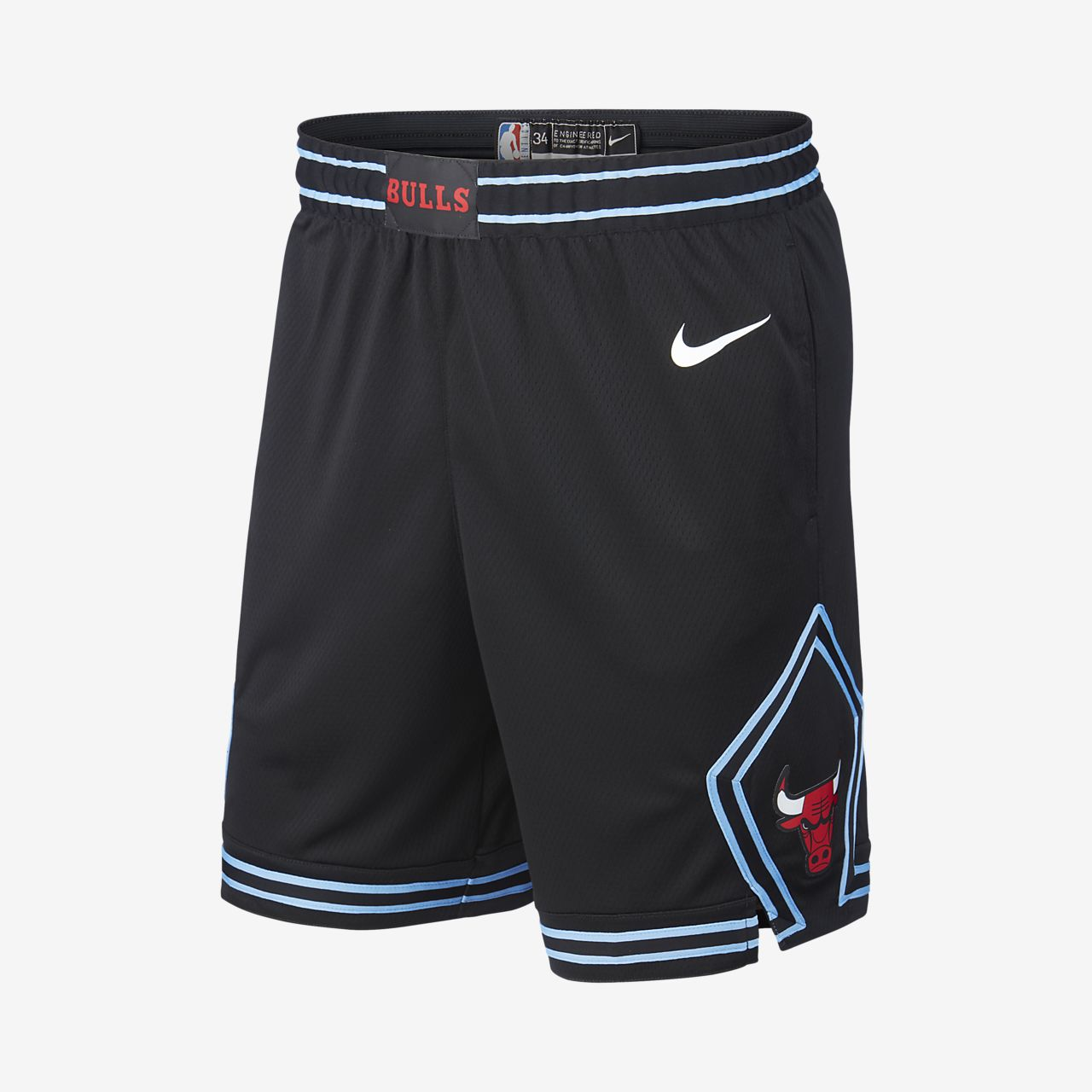 Chicago Bulls City Edition Swingman 男款 Nike NBA 短褲