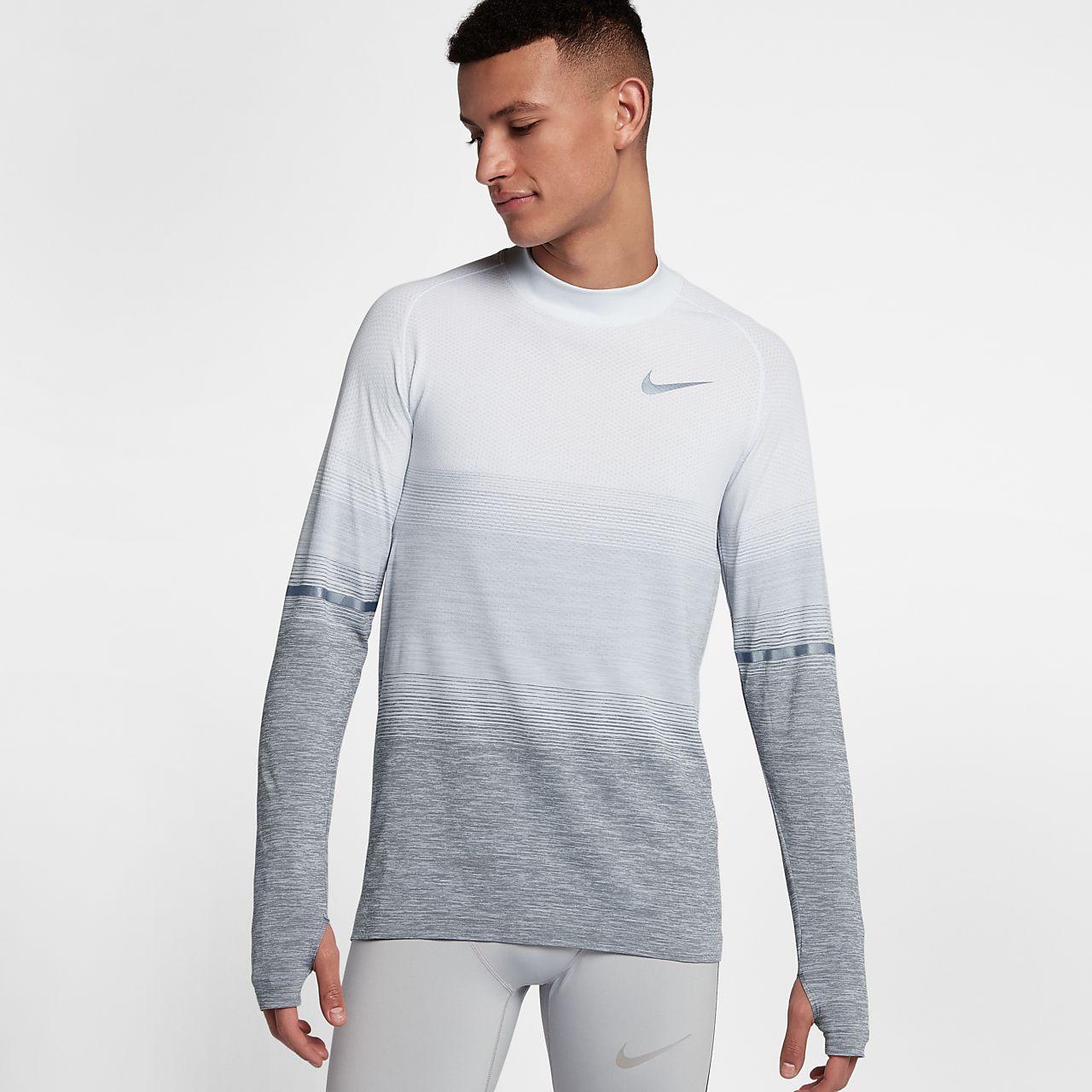 Nike Top de manga larga gris de Nike Plus Training nCVav