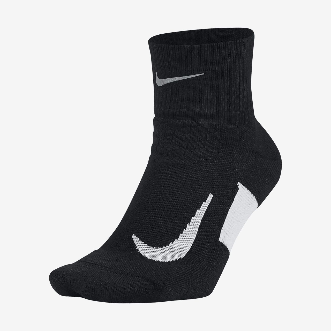 Nike Elite Lightweight Quarter Black Running Socks