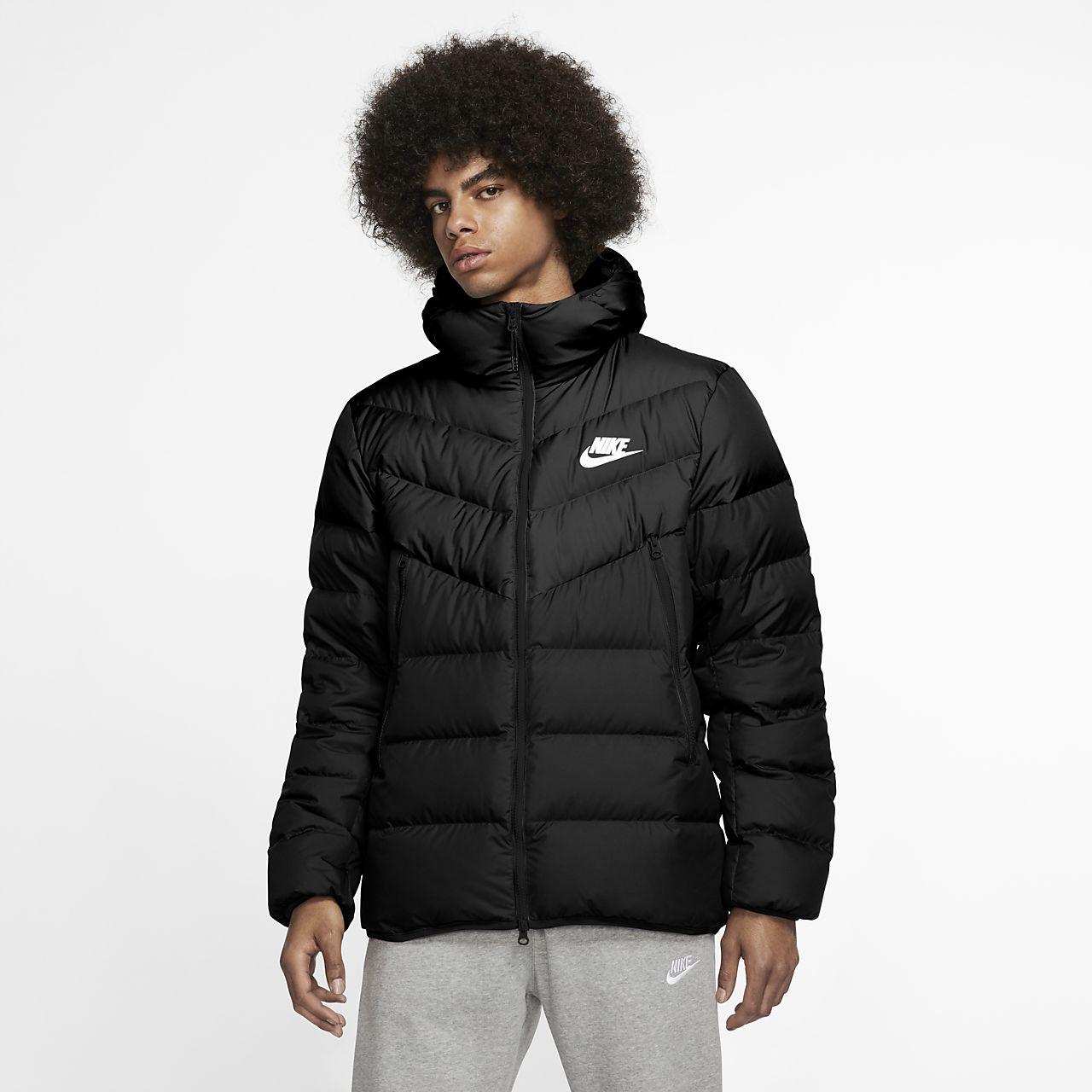 Nike Sportswear Windrunner-jakke med hætte og dunfyld til mænd