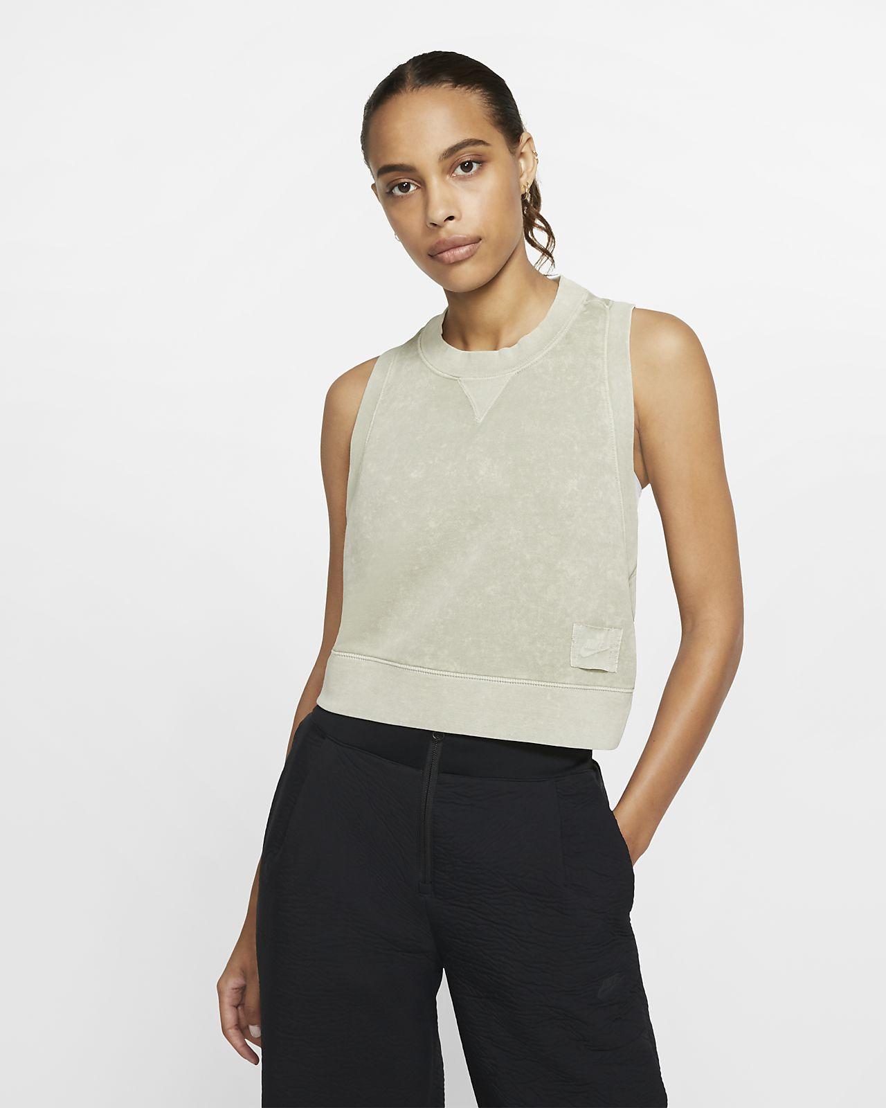 Nike Sportswear Camiseta de tirantes corta de tejido French terry - Mujer