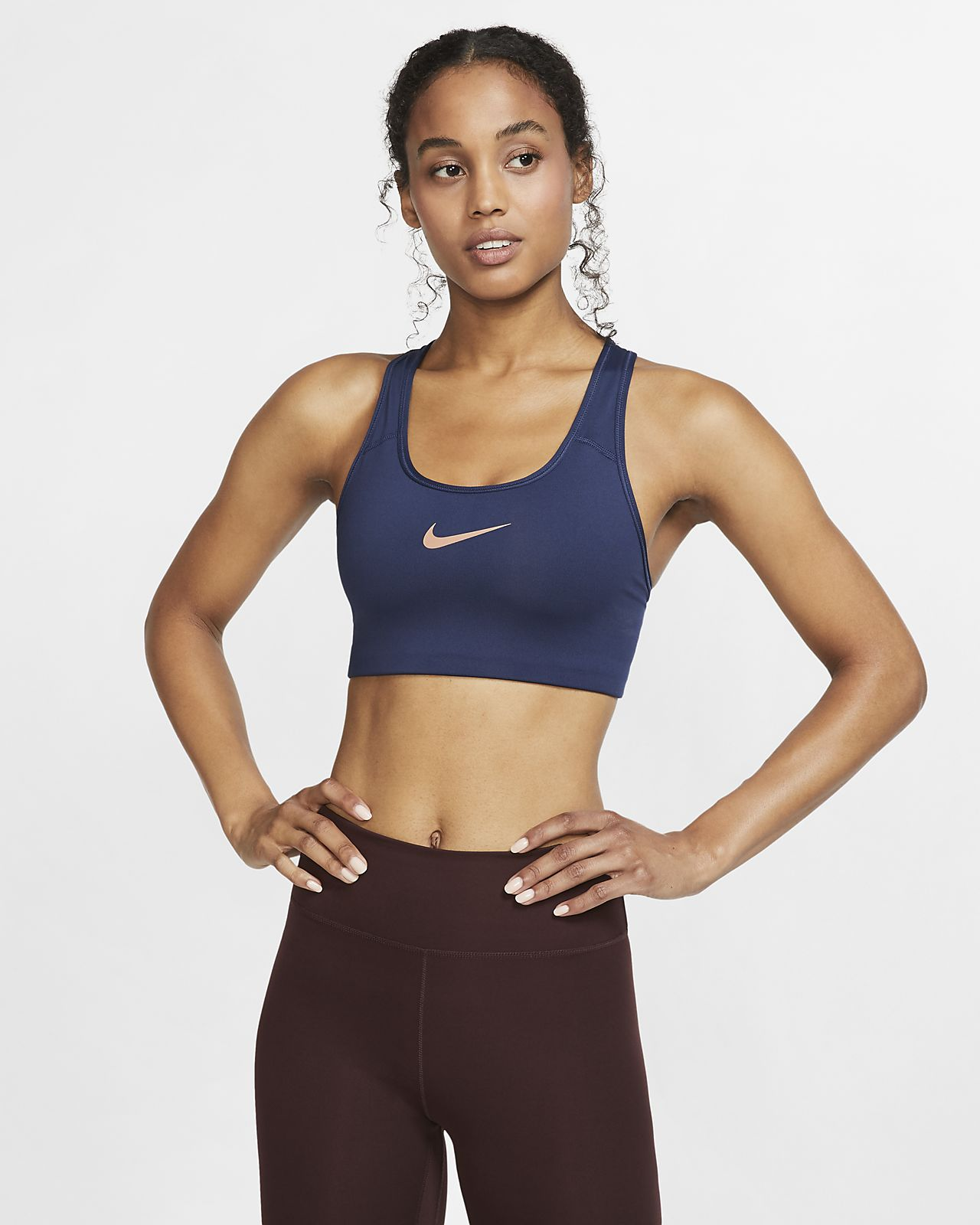 82c50285b9ddd Nike Women's Swoosh Medium-Support Sports Bra. Nike.com MA