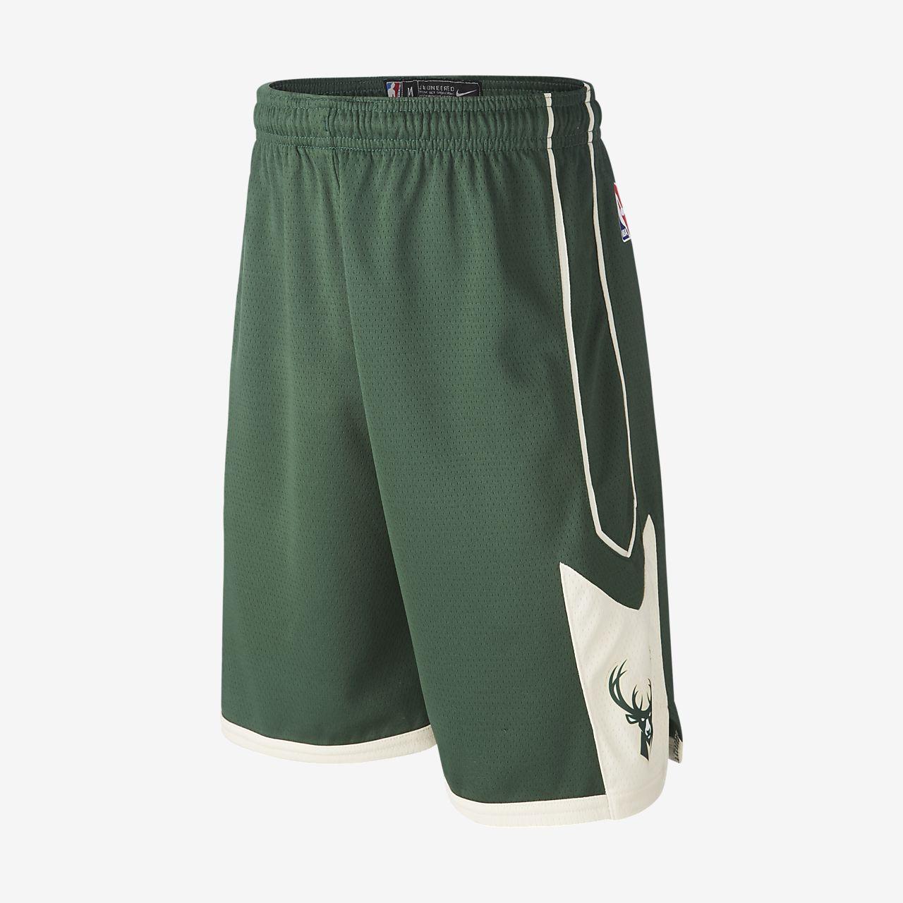 Milwaukee Bucks Nike Icon Edition Swingman NBA-shorts för ungdom (killar)