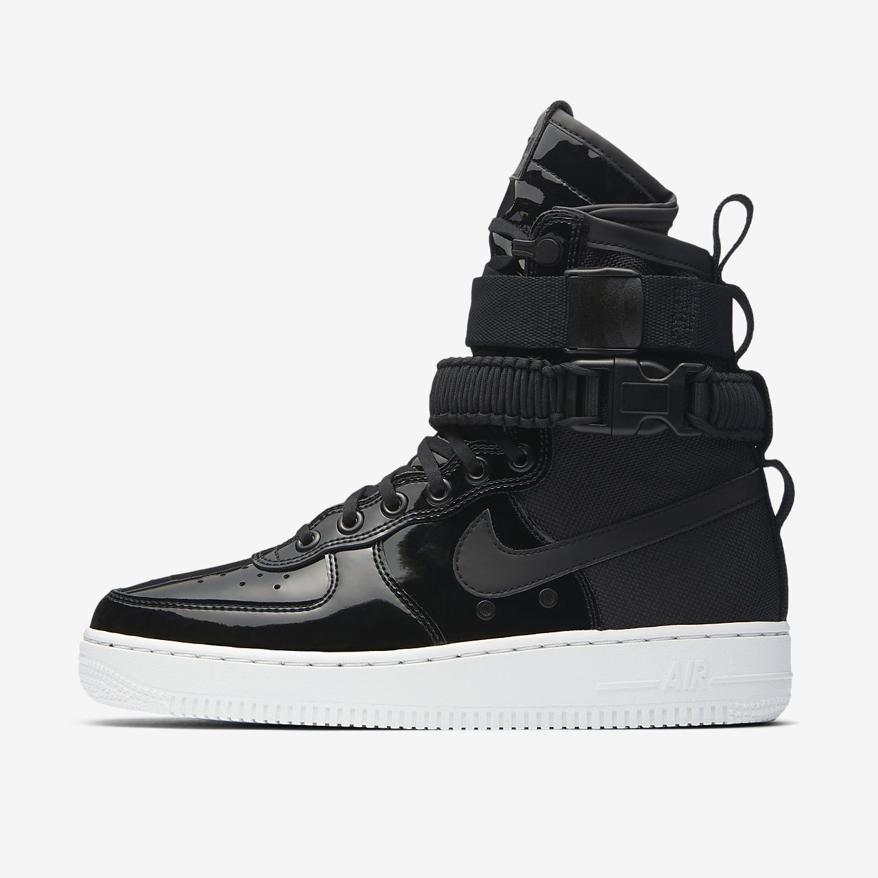 nike air force 1 mid 07 black leather mens trainers nz